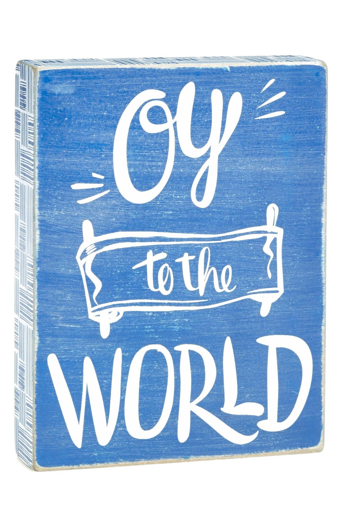 'Oy to the World' Box Sign,                             Alternate thumbnail 2, color,                             400