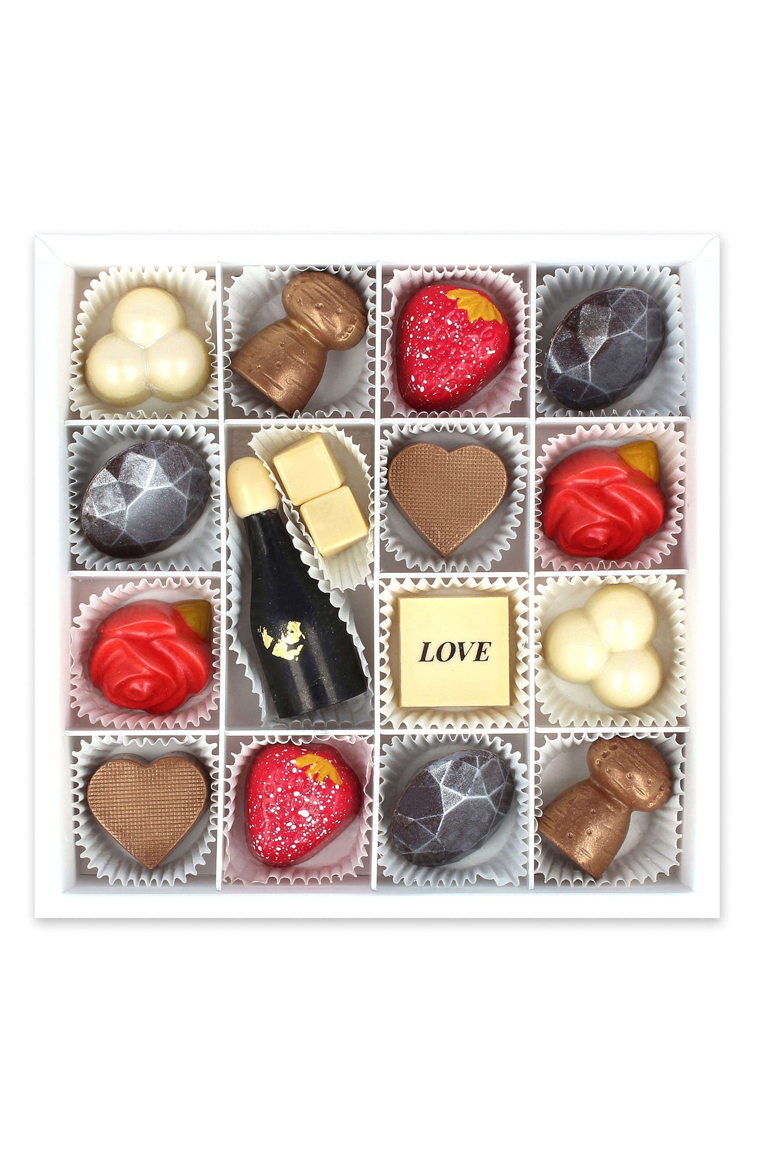 Lovestruck 16-Piece Chocolate Set,                             Main thumbnail 1, color,                             WHITE