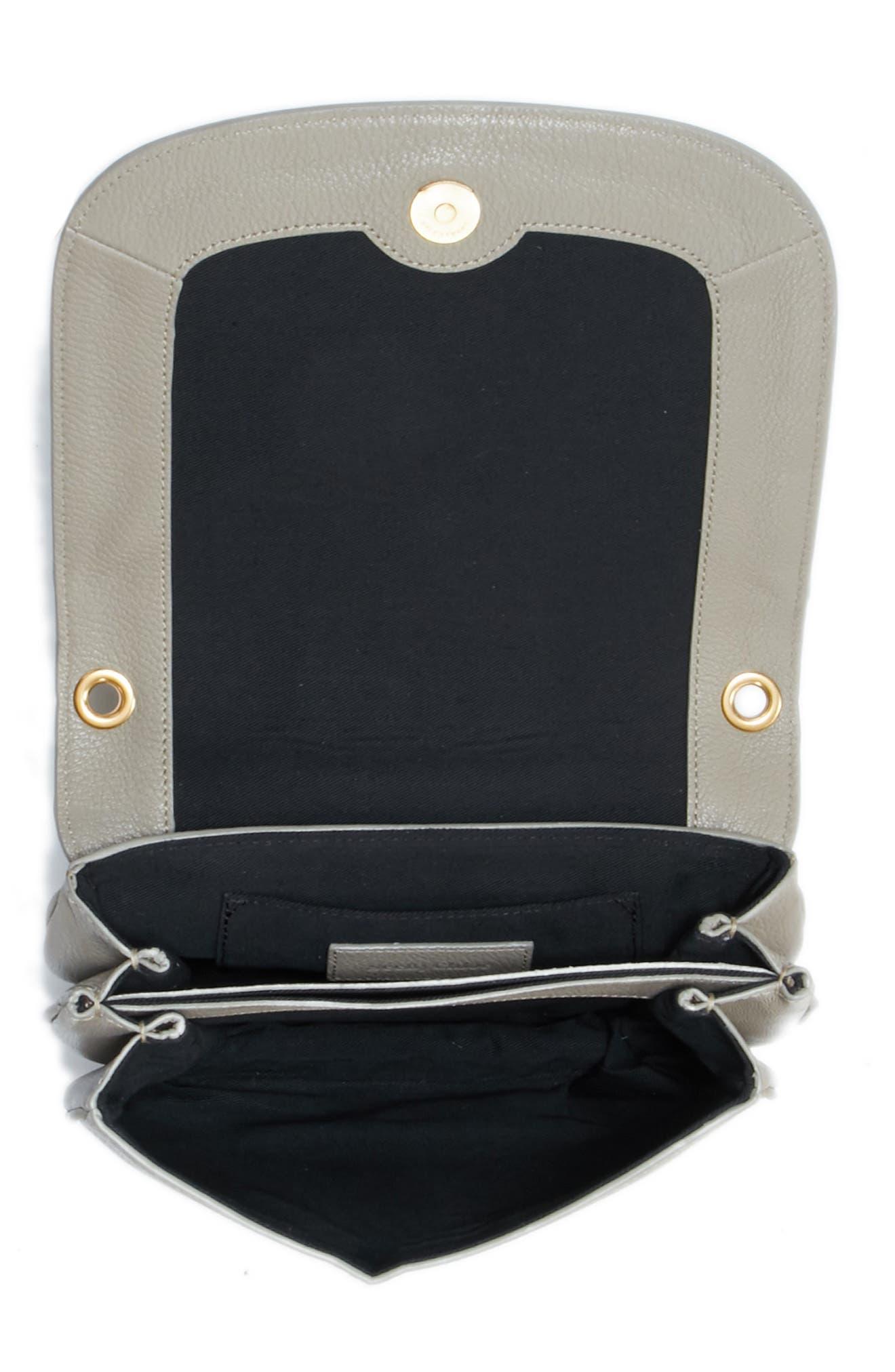 Hana Leather Shoulder Bag,                             Alternate thumbnail 8, color,