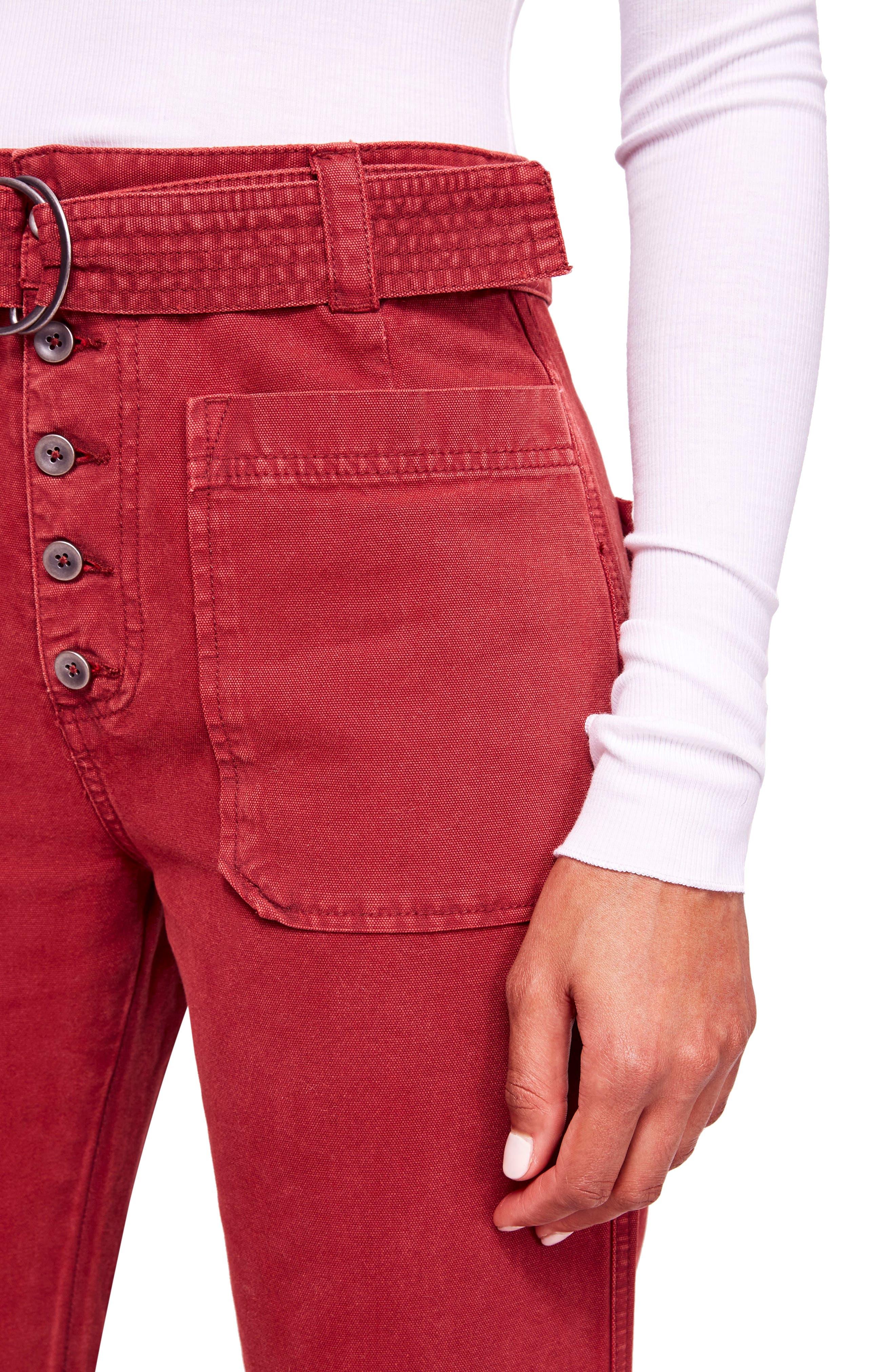 Corin Mod Slim Flare Pants,                             Alternate thumbnail 4, color,                             WINE