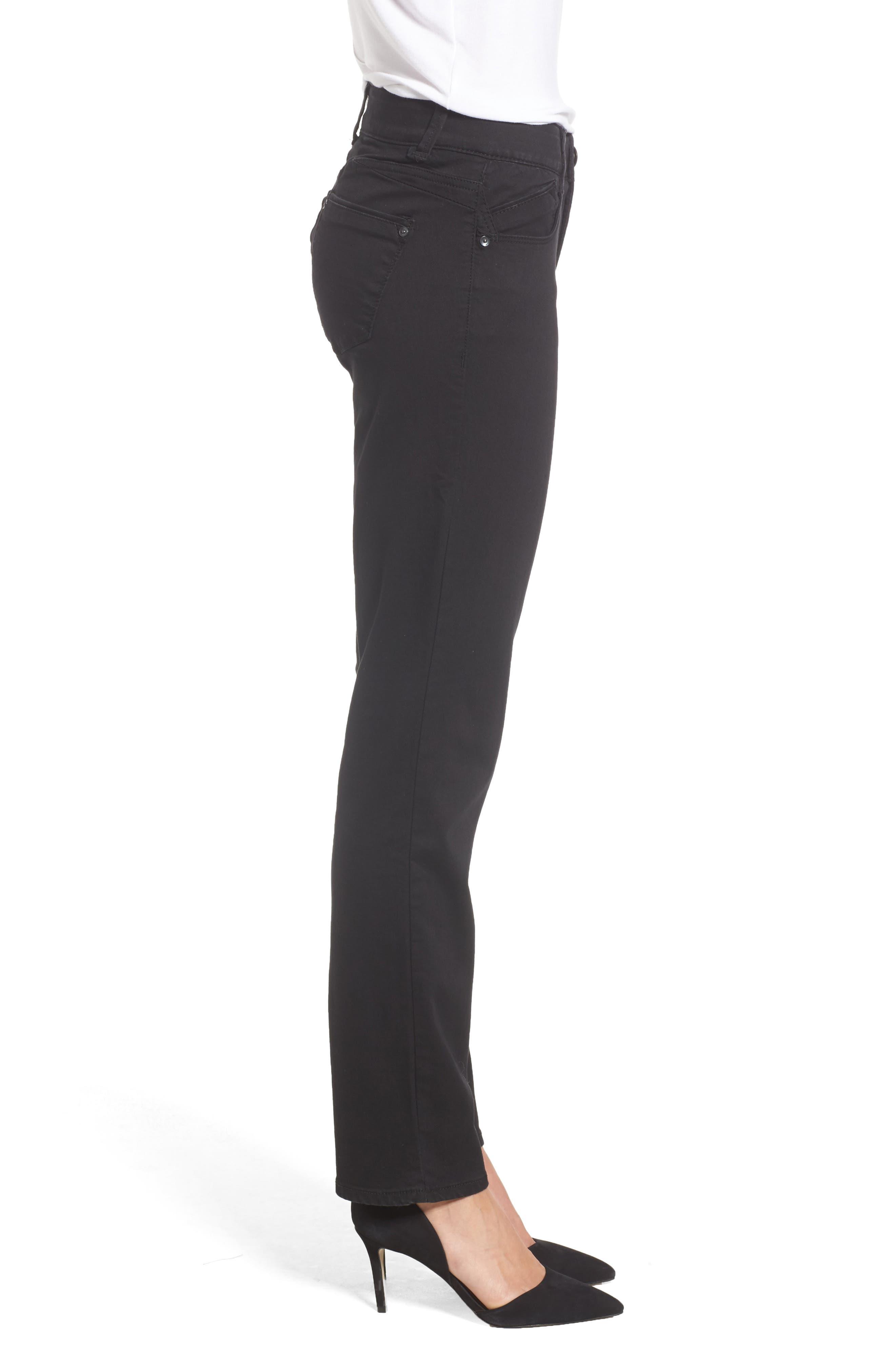 Ab-solution Straight Leg Jeans,                             Alternate thumbnail 3, color,                             BLACK
