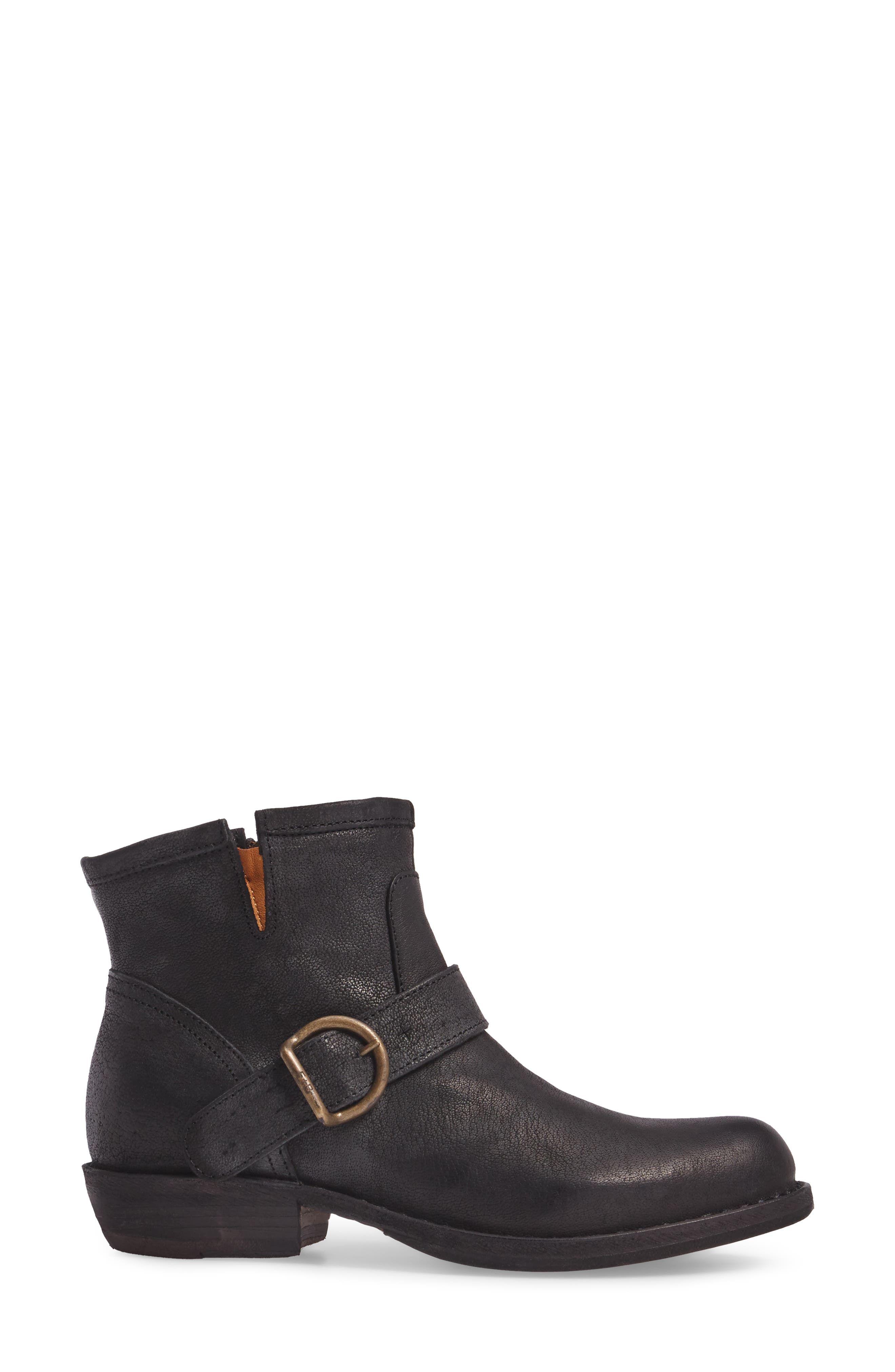 FIORENTINI + BAKER,                             'Chad' Textured Leather Bootie,                             Alternate thumbnail 3, color,                             002