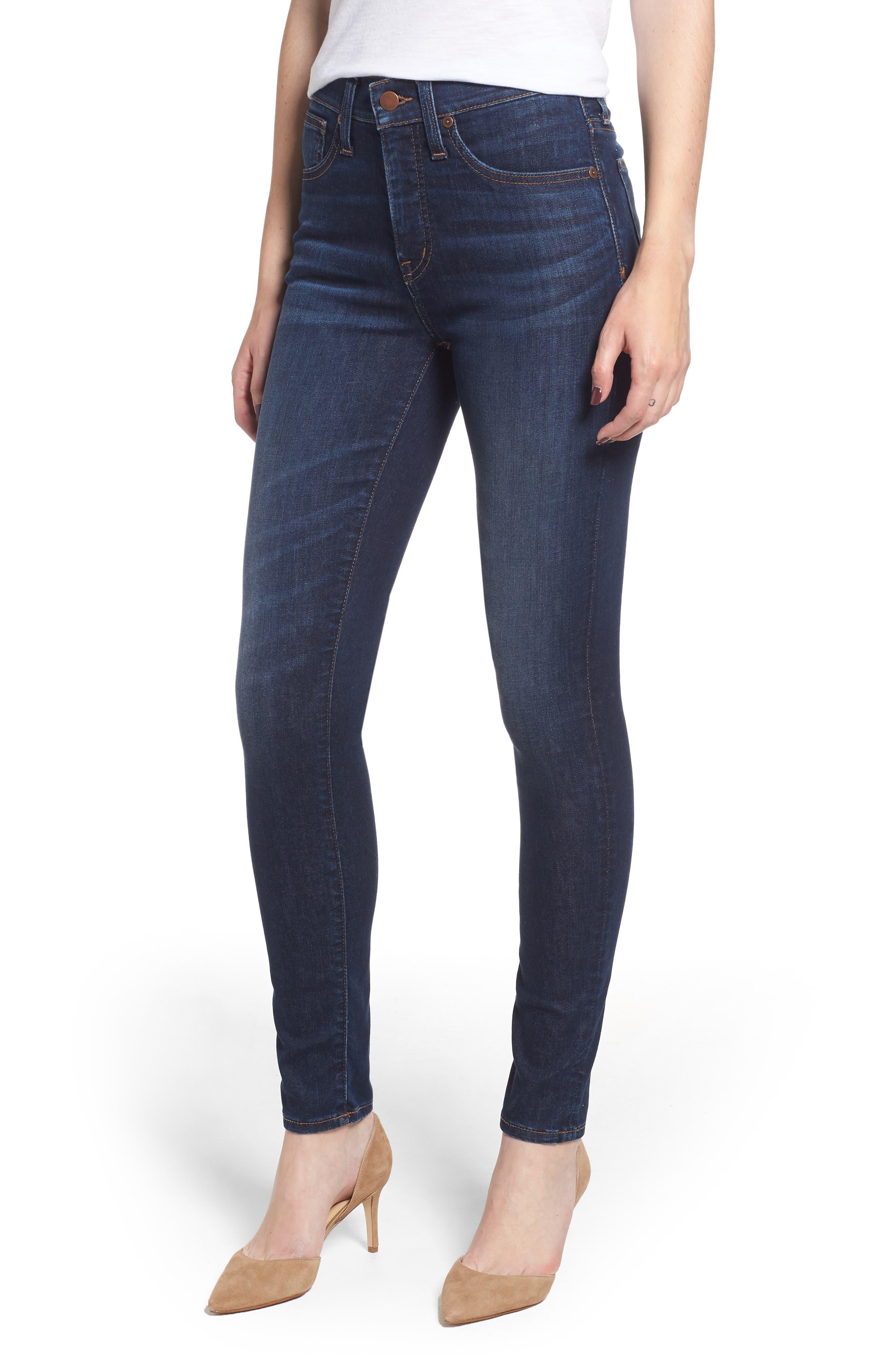 Skinny Jeans,                             Main thumbnail 1, color,                             DARK SOFT