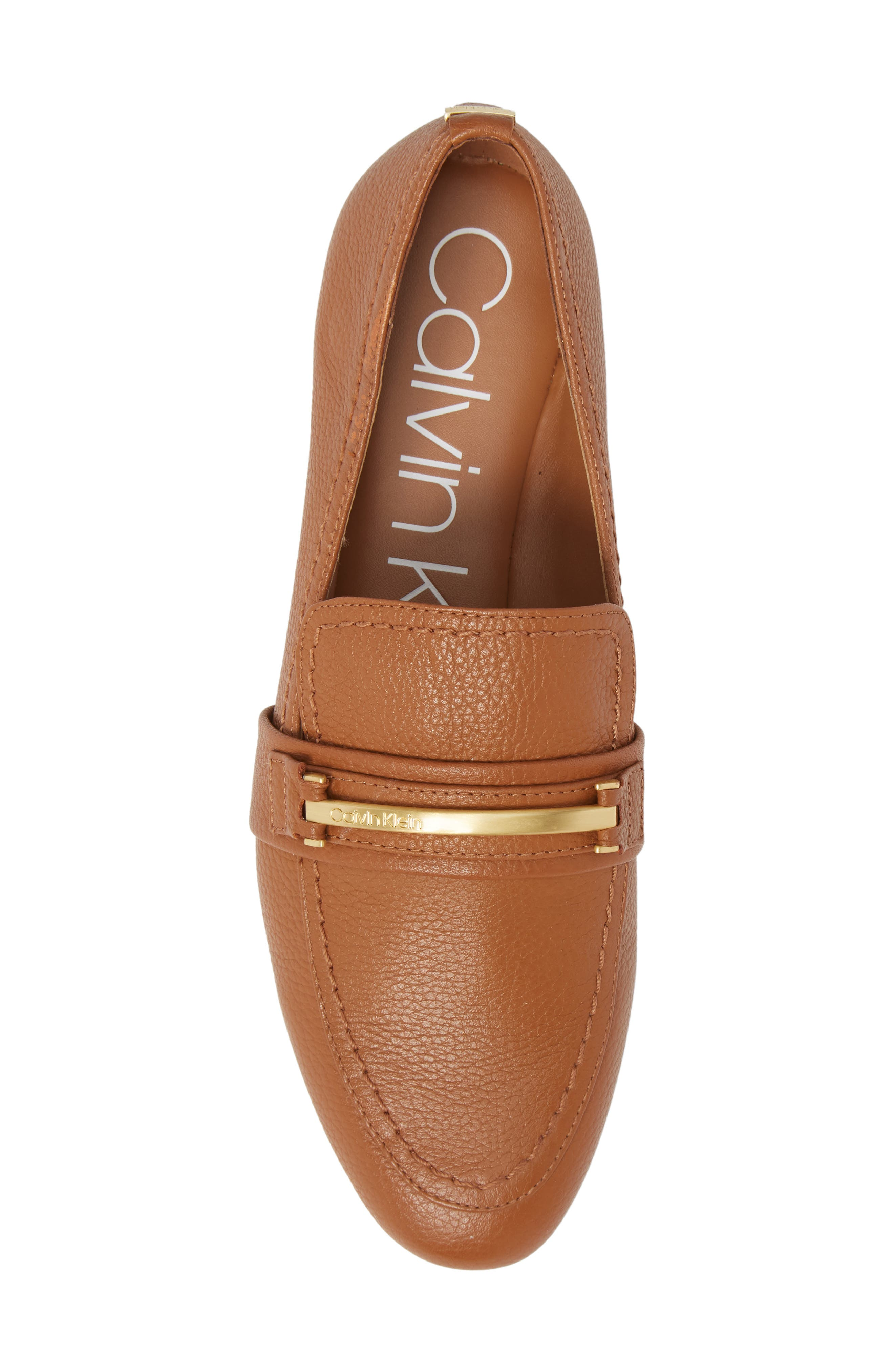 Orianna Loafer,                             Alternate thumbnail 5, color,                             COGNAC LEATHER