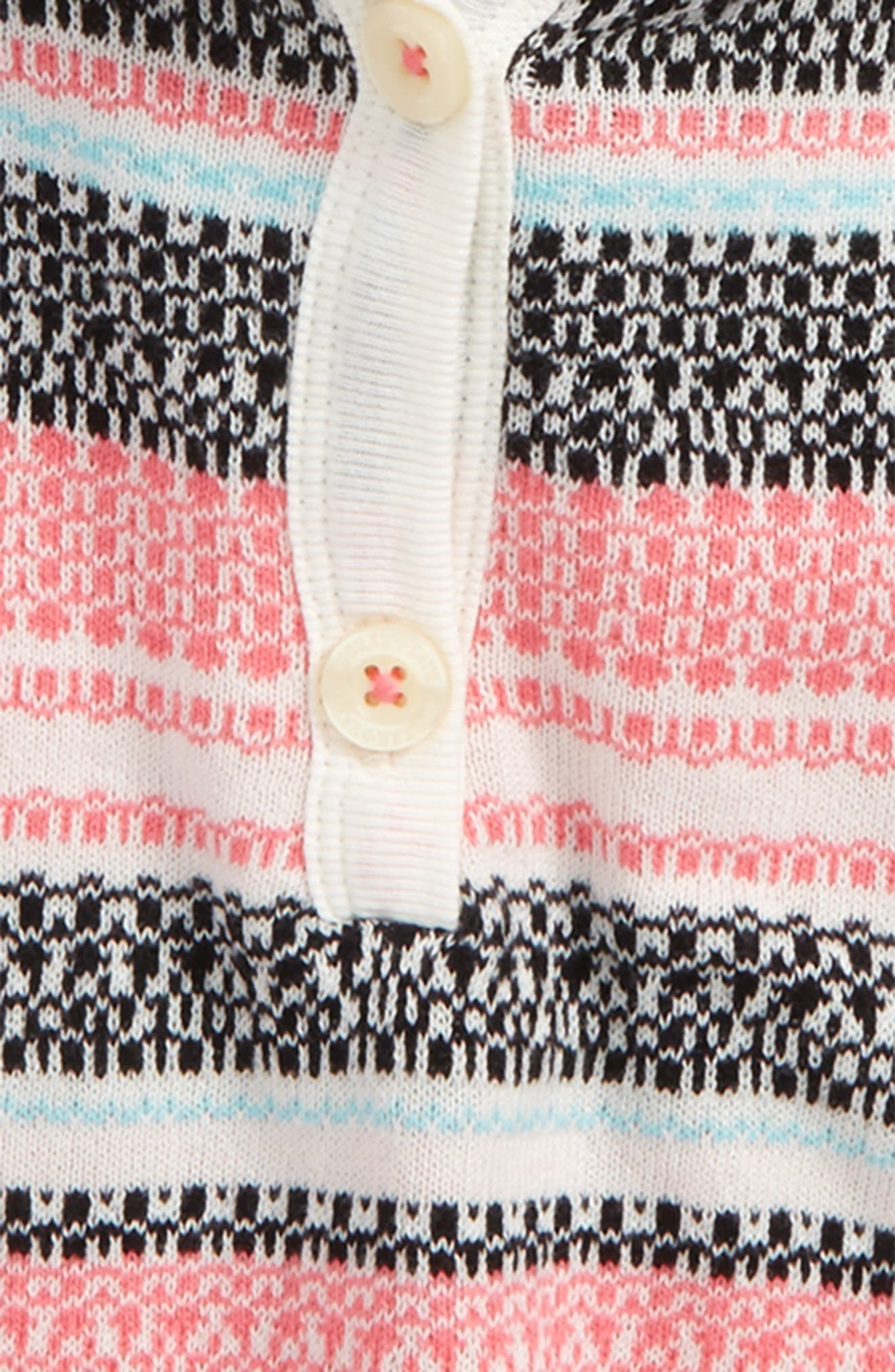 Fair Isle Sweater Poncho,                             Alternate thumbnail 2, color,