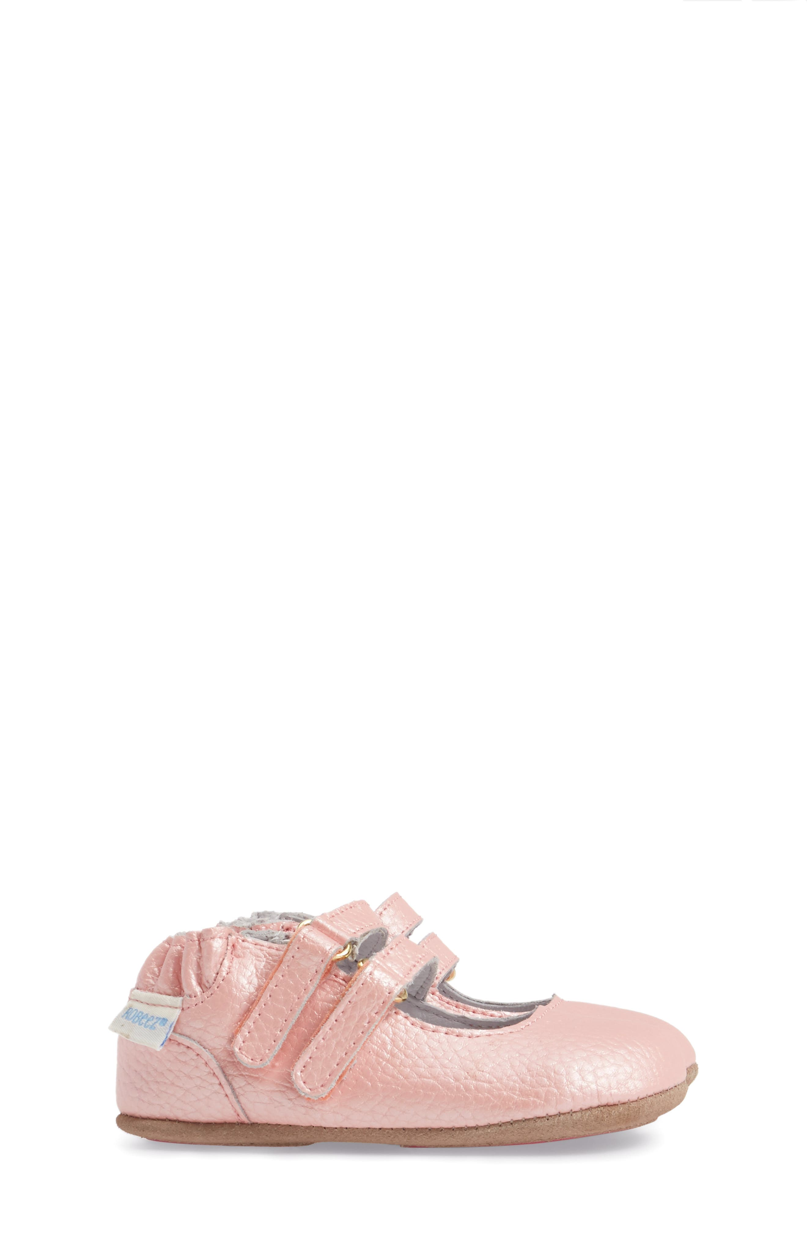 Rose Mary Jane Crib Shoe,                             Alternate thumbnail 3, color,                             ROSE