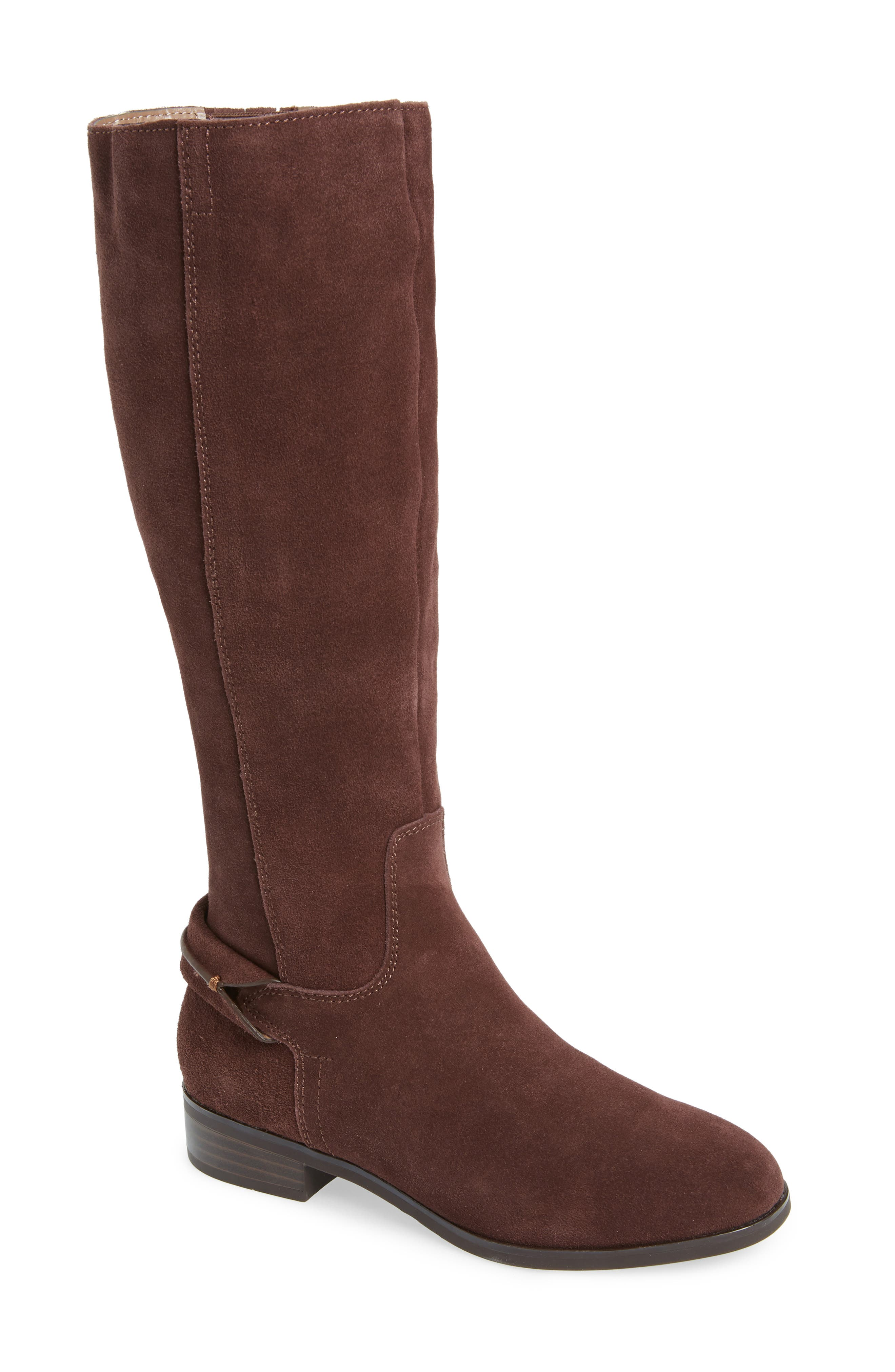 KENSIE Cheverly Knee High Boot in Chocolate Suede