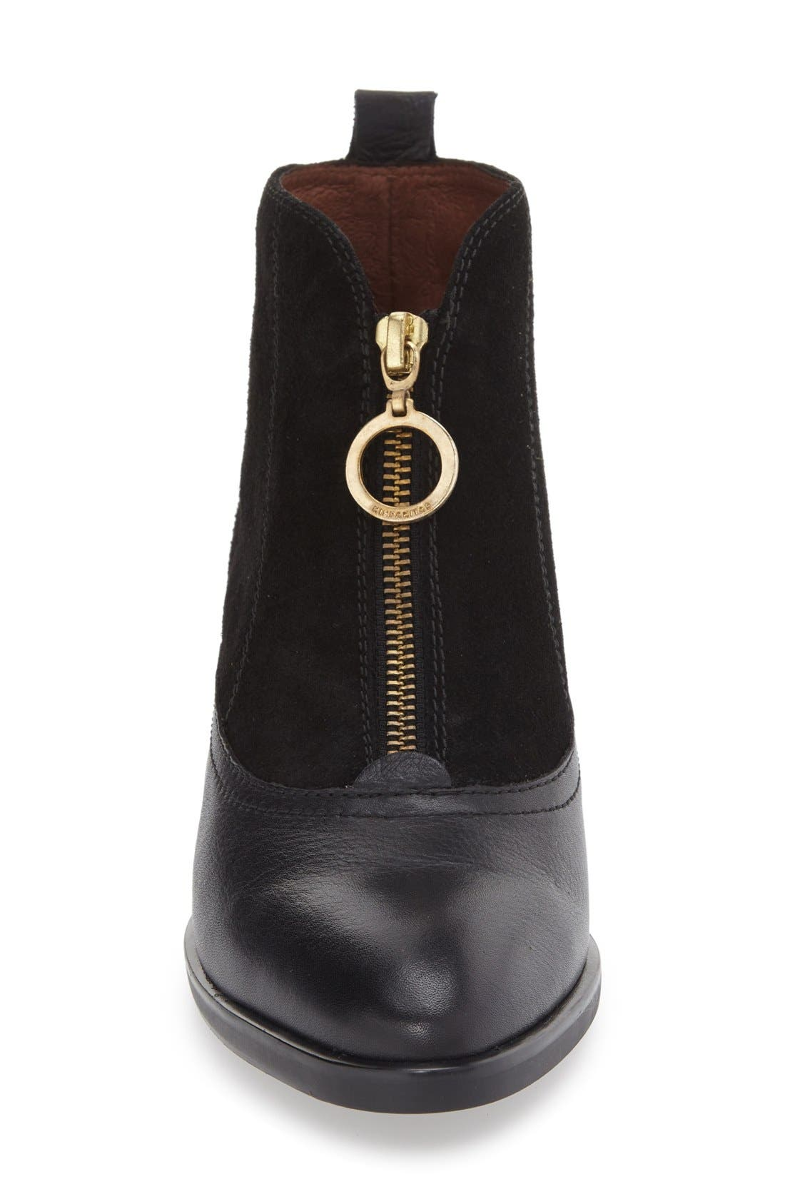 'Loralyn' Bootie,                             Alternate thumbnail 3, color,                             BLACK LEATHER