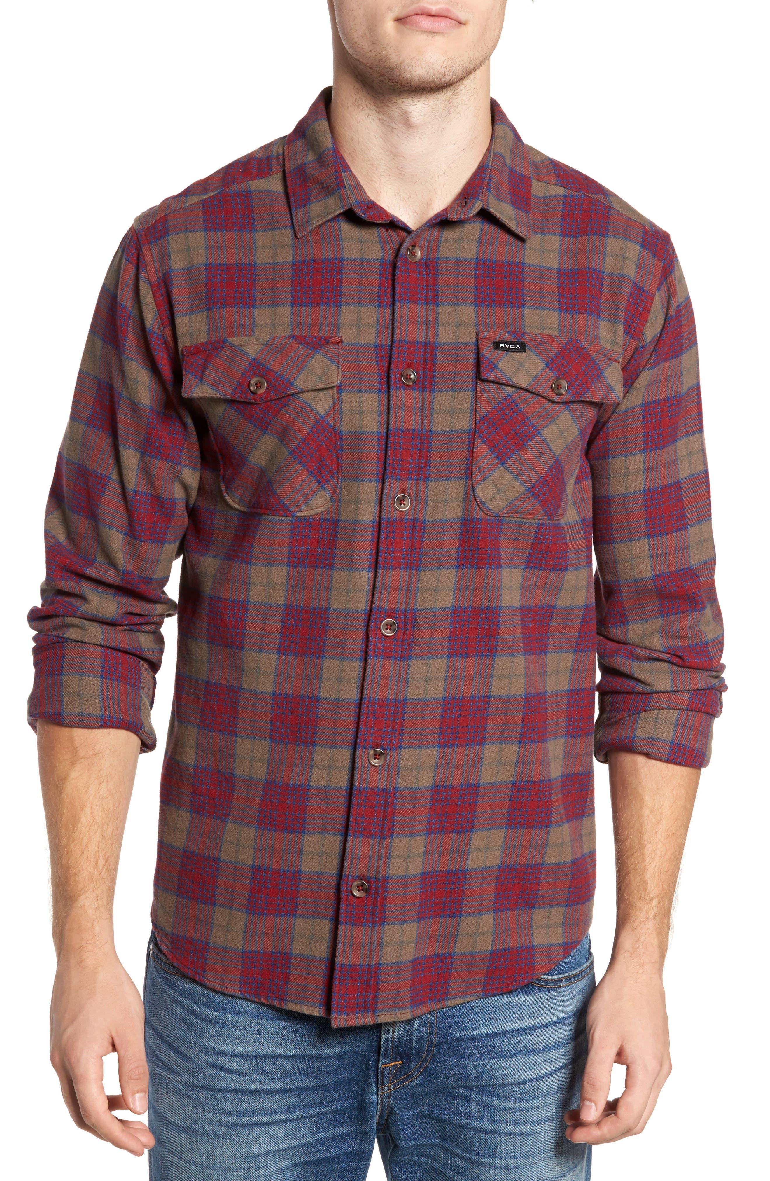 'That'll Work' Trim Fit Plaid Flannel Shirt,                             Main thumbnail 2, color,