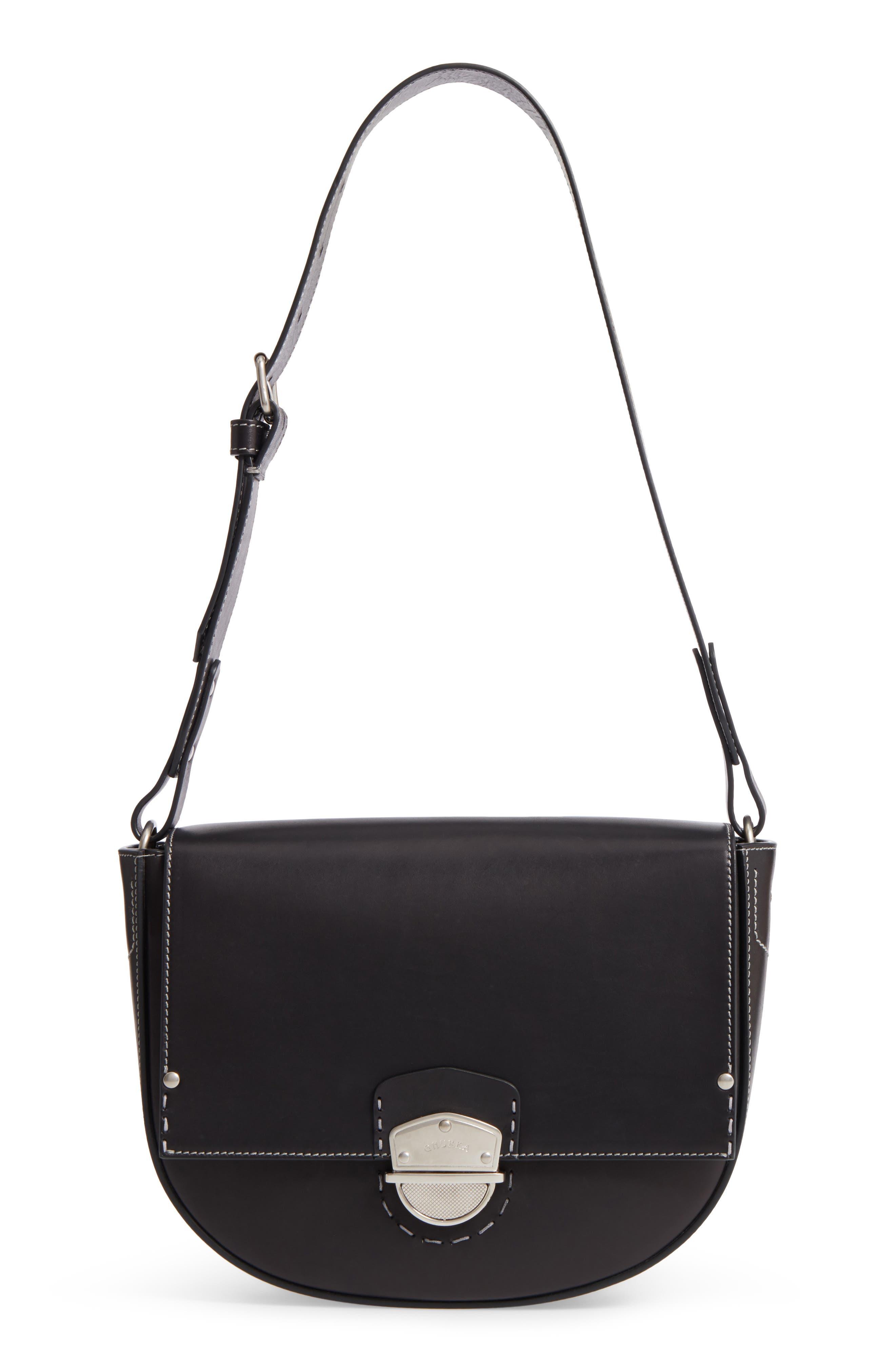 Marlow II Leather Shoulder Bag,                         Main,                         color, 001
