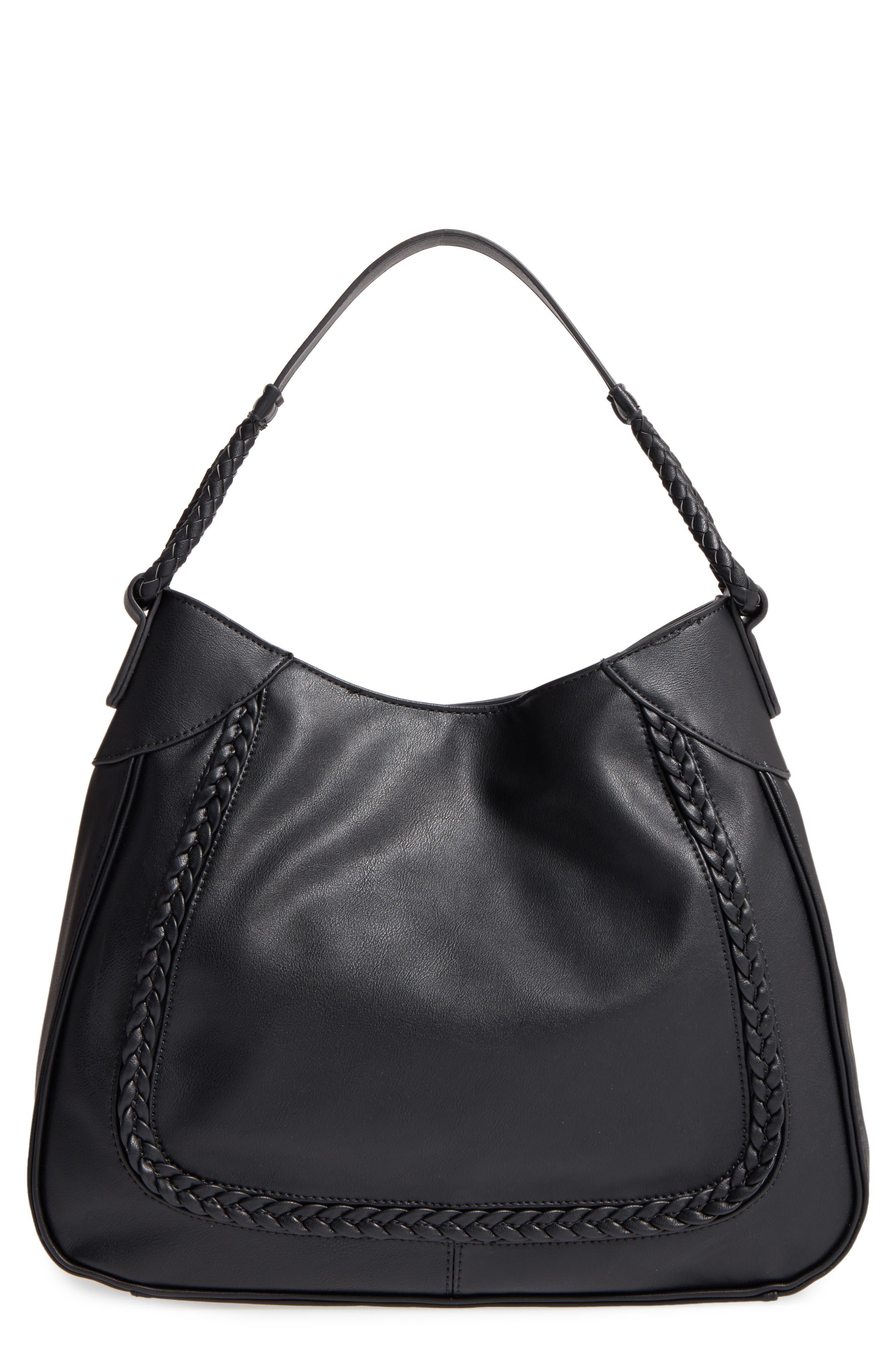 Rema Faux Leather Shoulder Bag,                             Main thumbnail 1, color,                             001