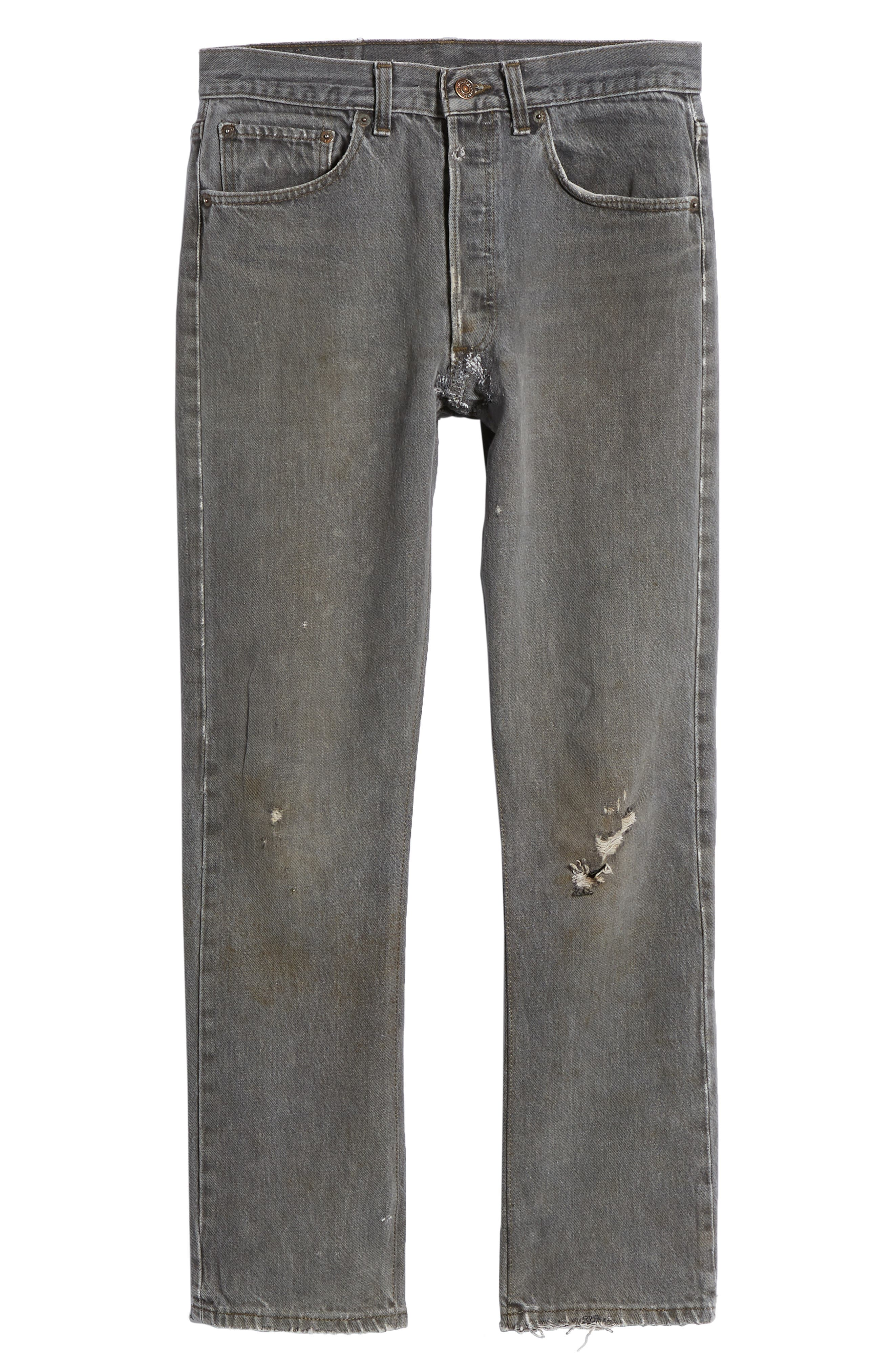 Authorized Vintage 501<sup>™</sup> Tapered Slim Fit Jeans,                             Alternate thumbnail 6, color,                             AV BLACK