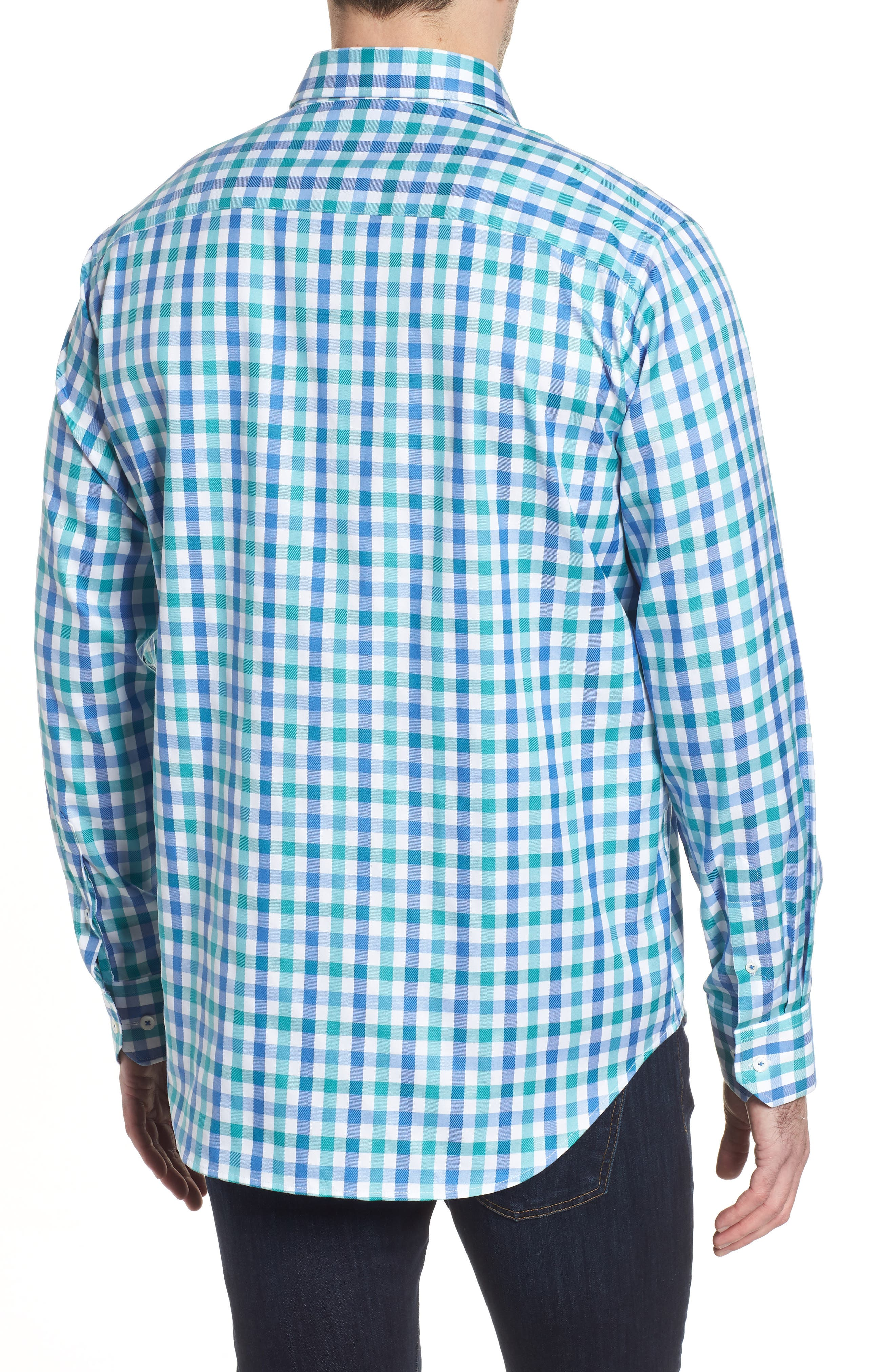 Classic Fit Gingham Check Sport Shirt,                             Alternate thumbnail 2, color,                             313