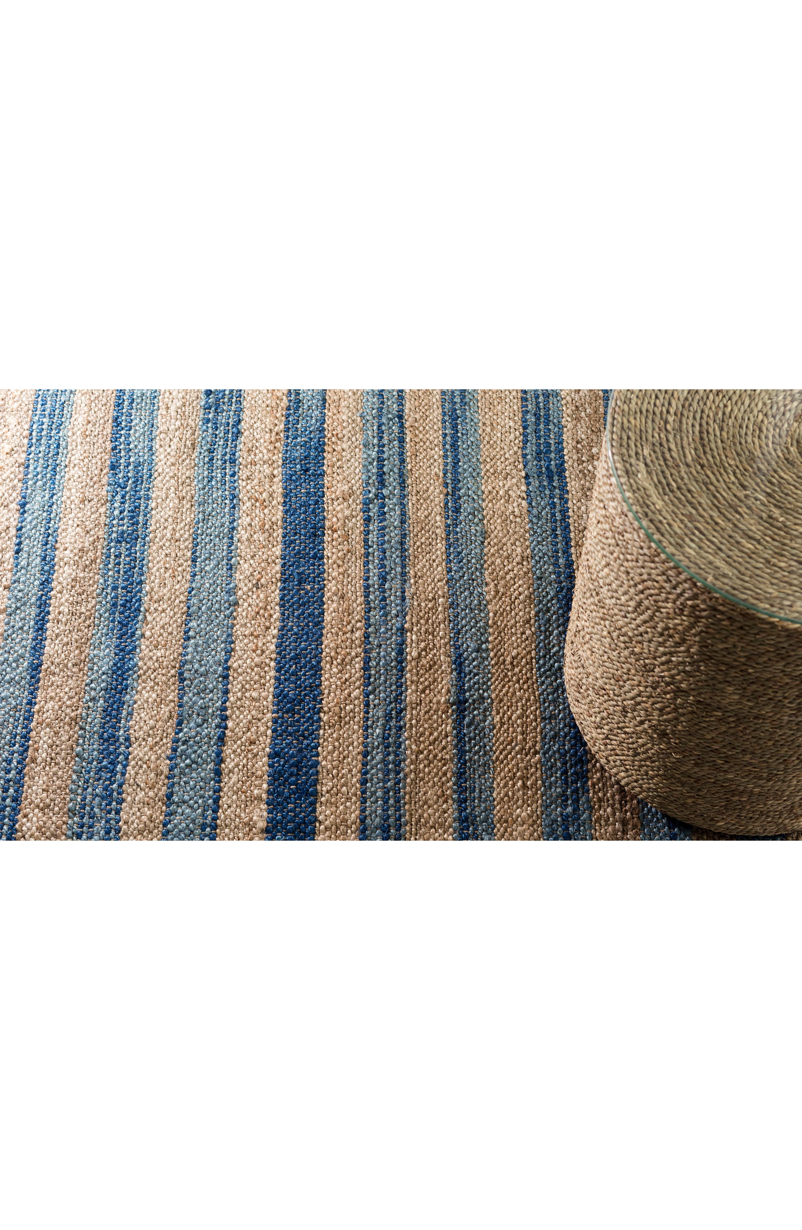 Corfu Woven Wool Rug,                             Alternate thumbnail 3, color,                             BLUE