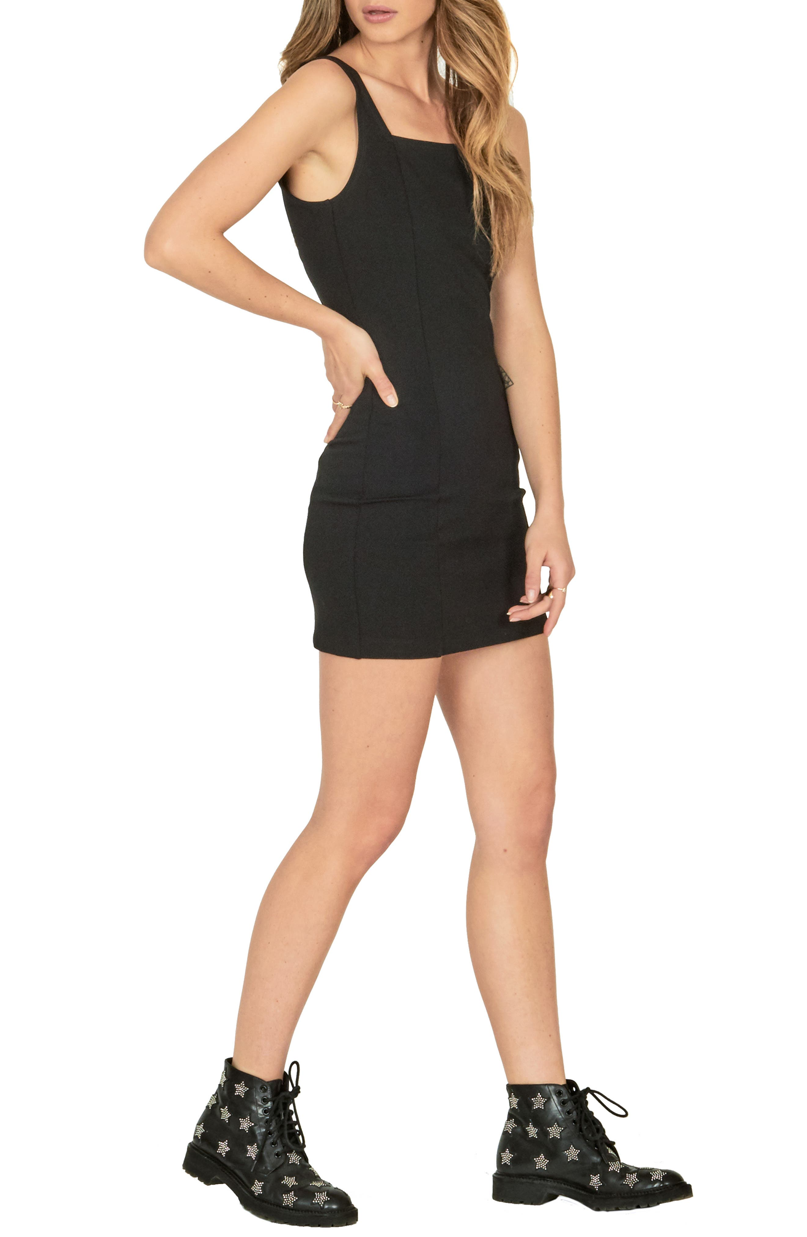 AMUSE SOCIETY Check It Dress in Black