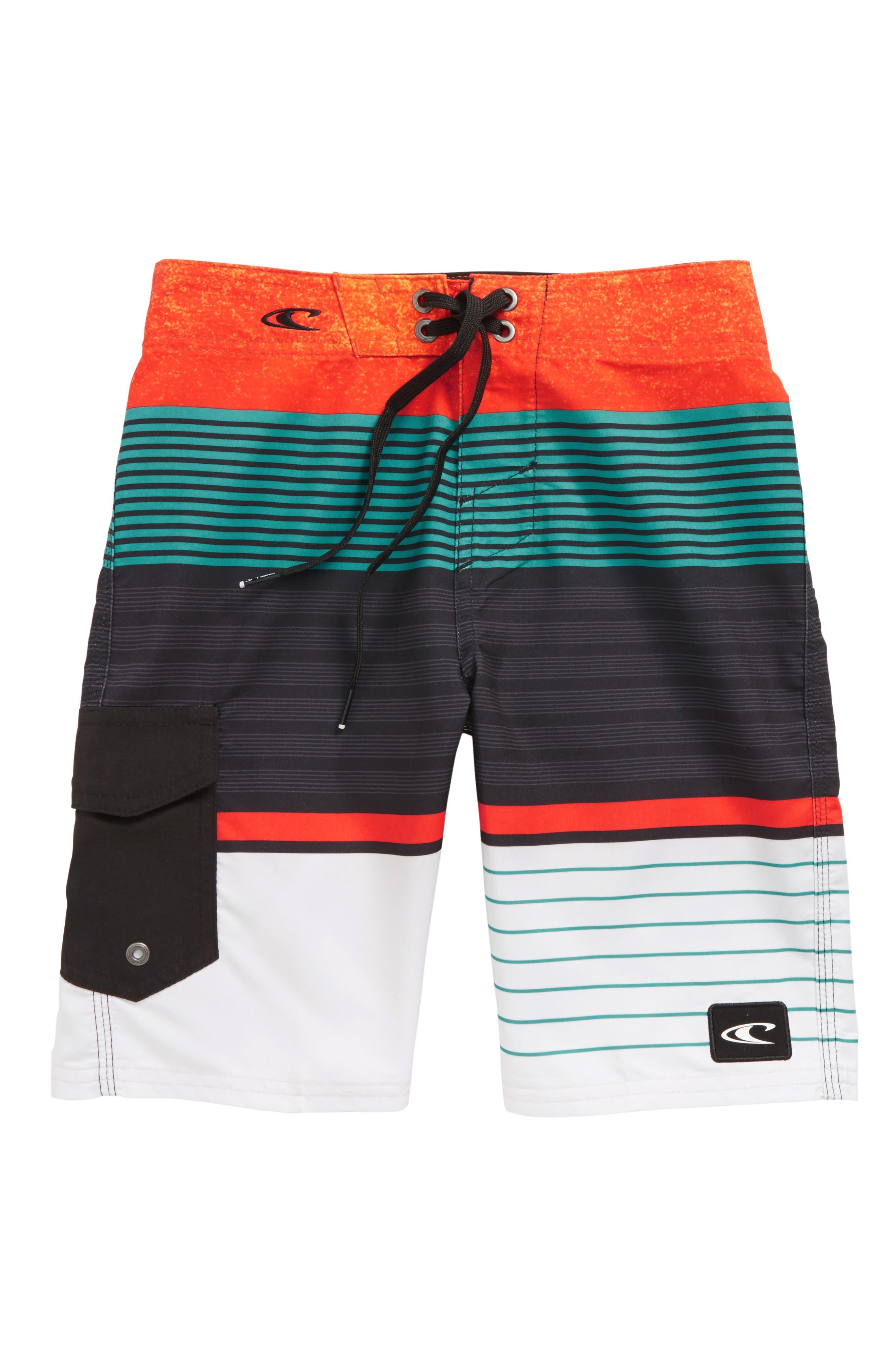 Lennox Stripe Board Shorts,                             Main thumbnail 5, color,
