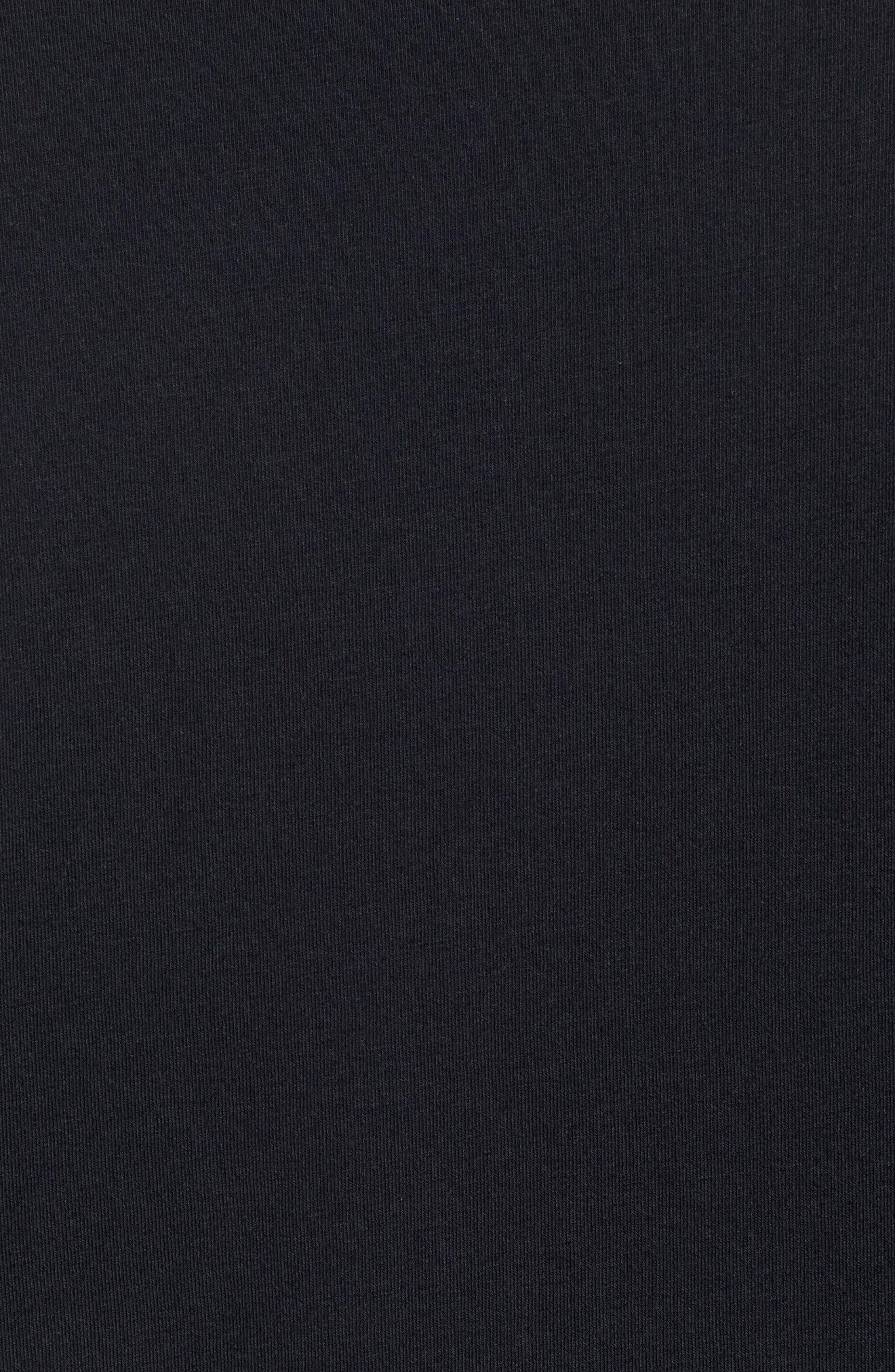 HeatGear<sup>®</sup> Long Sleeve Performance T-Shirt,                             Alternate thumbnail 5, color,                             BLACK/ STEEL