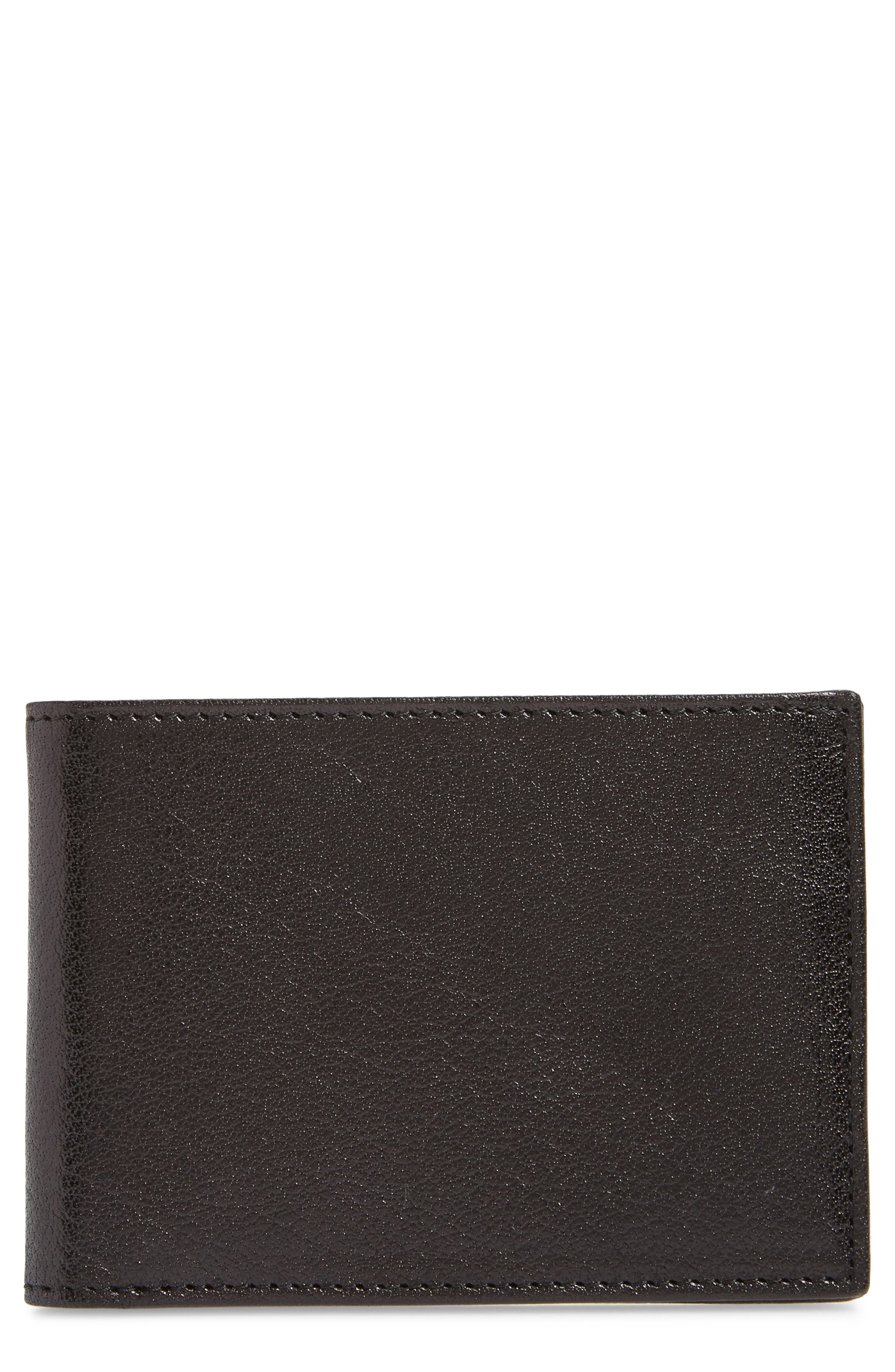 Landon Slim Leather Wallet,                             Main thumbnail 1, color,                             001