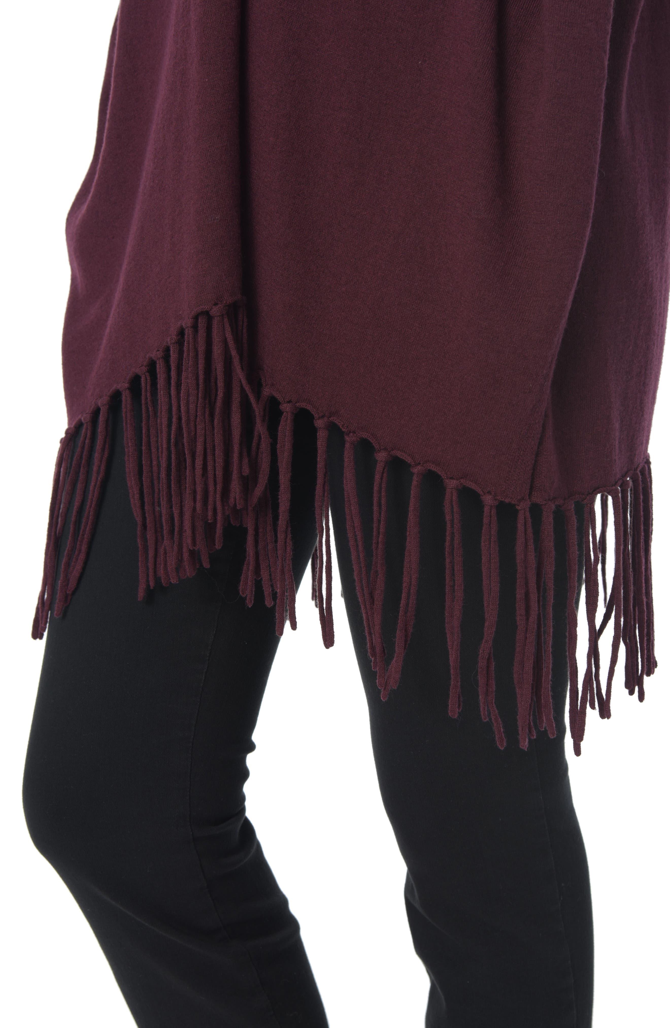 Fringe Sweater Wrap,                             Alternate thumbnail 6, color,