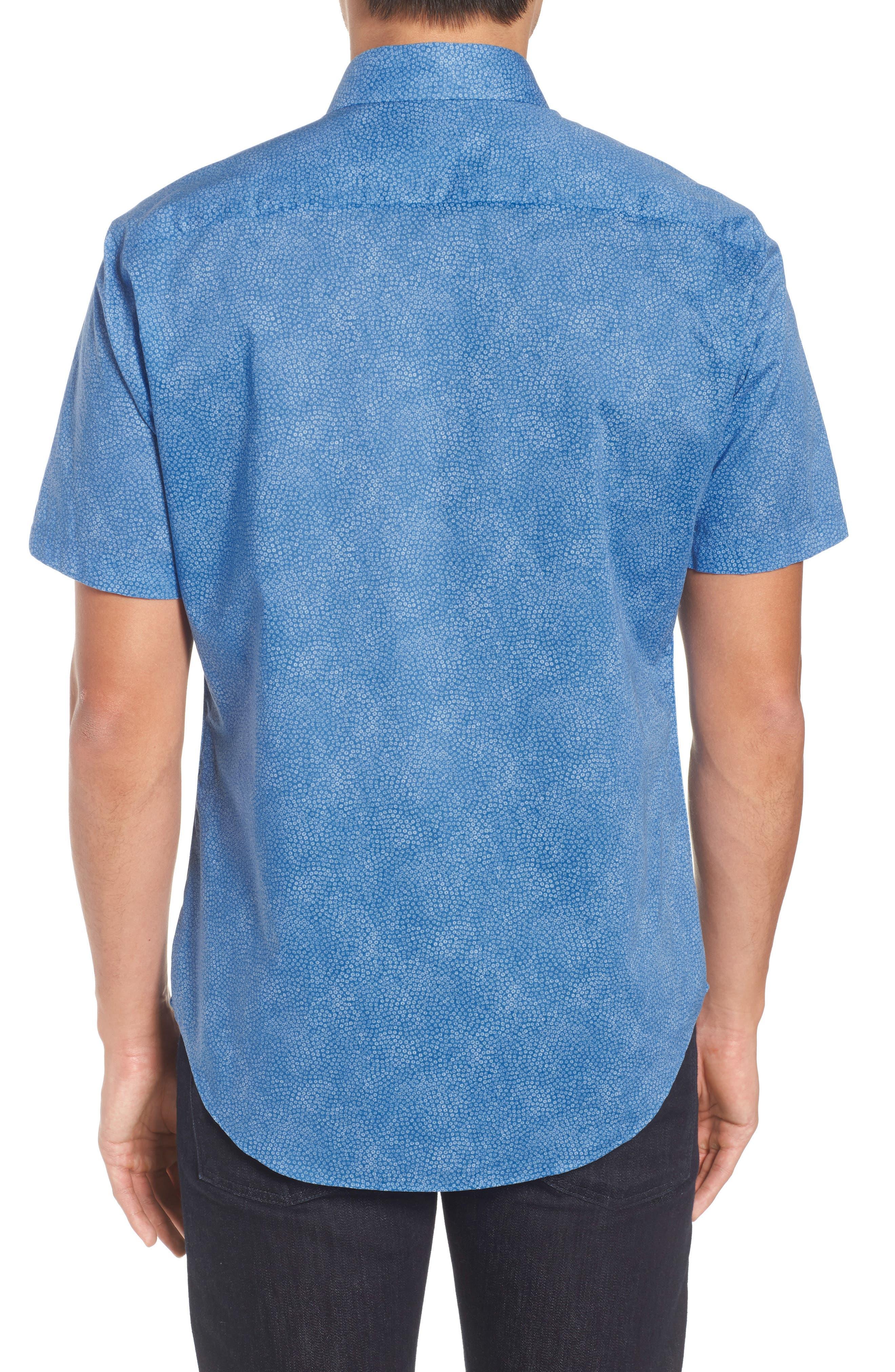 Siguenza Floral Short Sleeve Sport Shirt,                             Alternate thumbnail 2, color,                             400