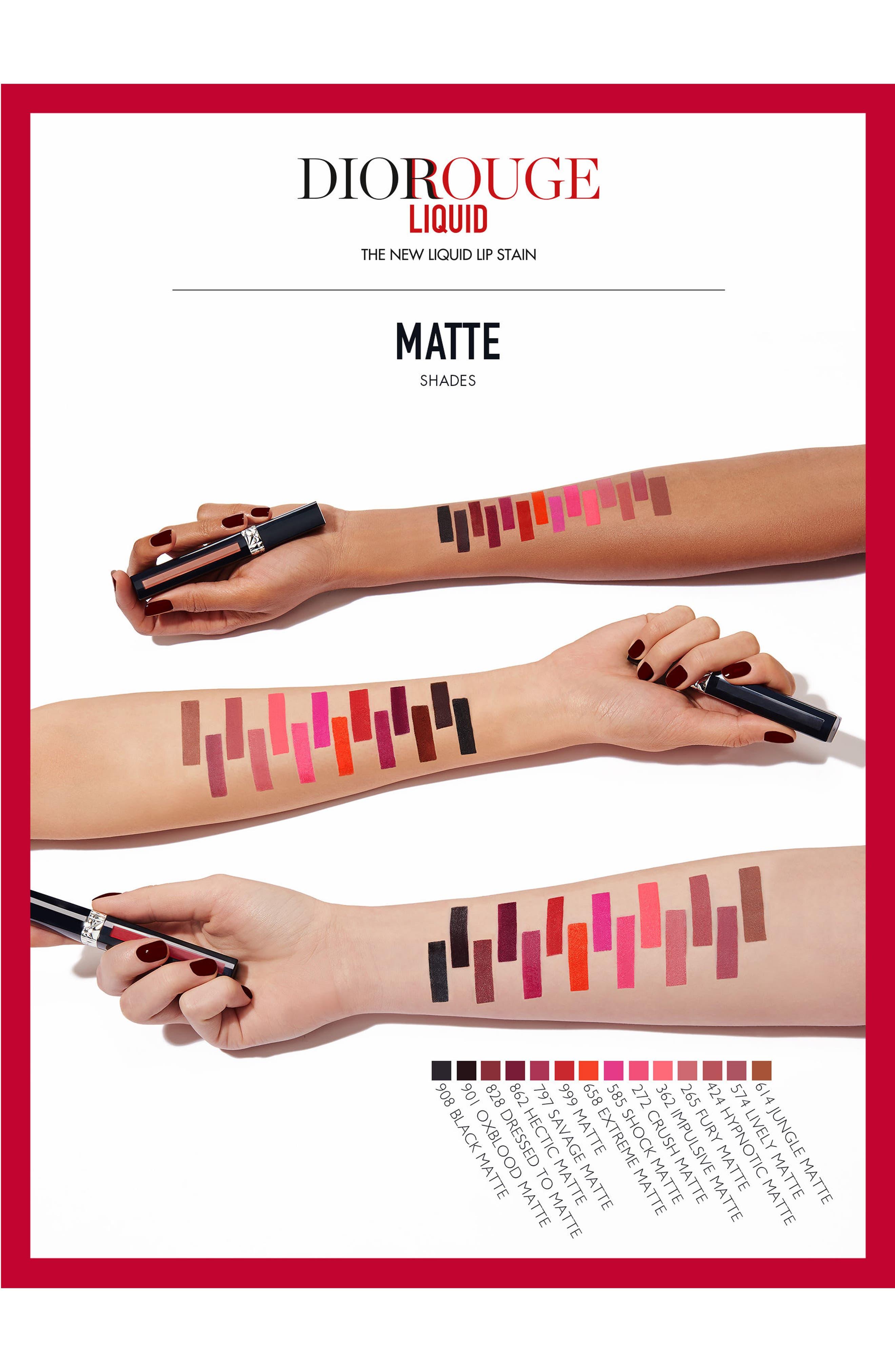 Rouge Dior Liquid Lip Stain,                             Alternate thumbnail 4, color,                             908 EXTREME BLACK