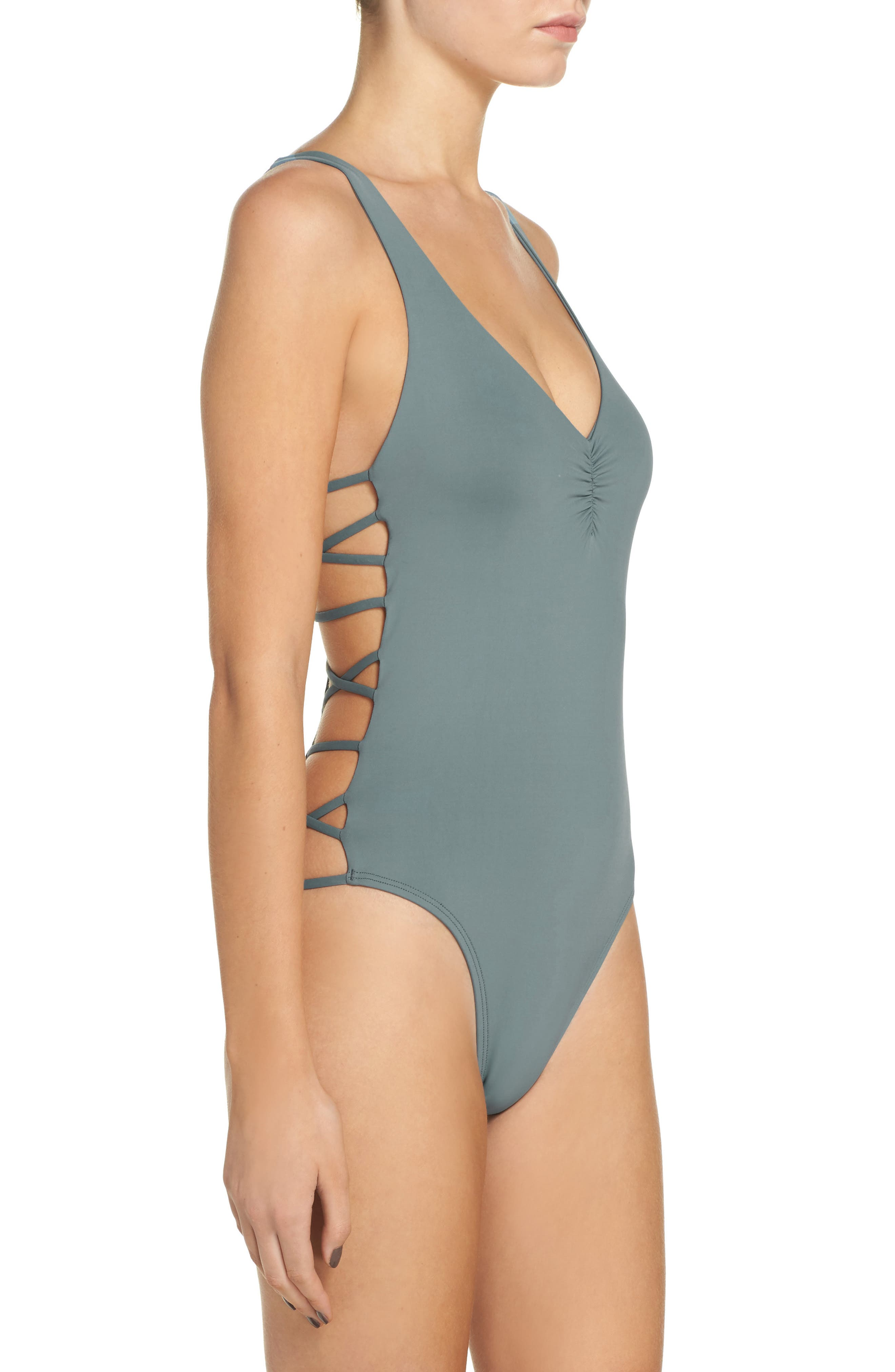 Ricki One-Piece Swimsuit,                             Alternate thumbnail 6, color,