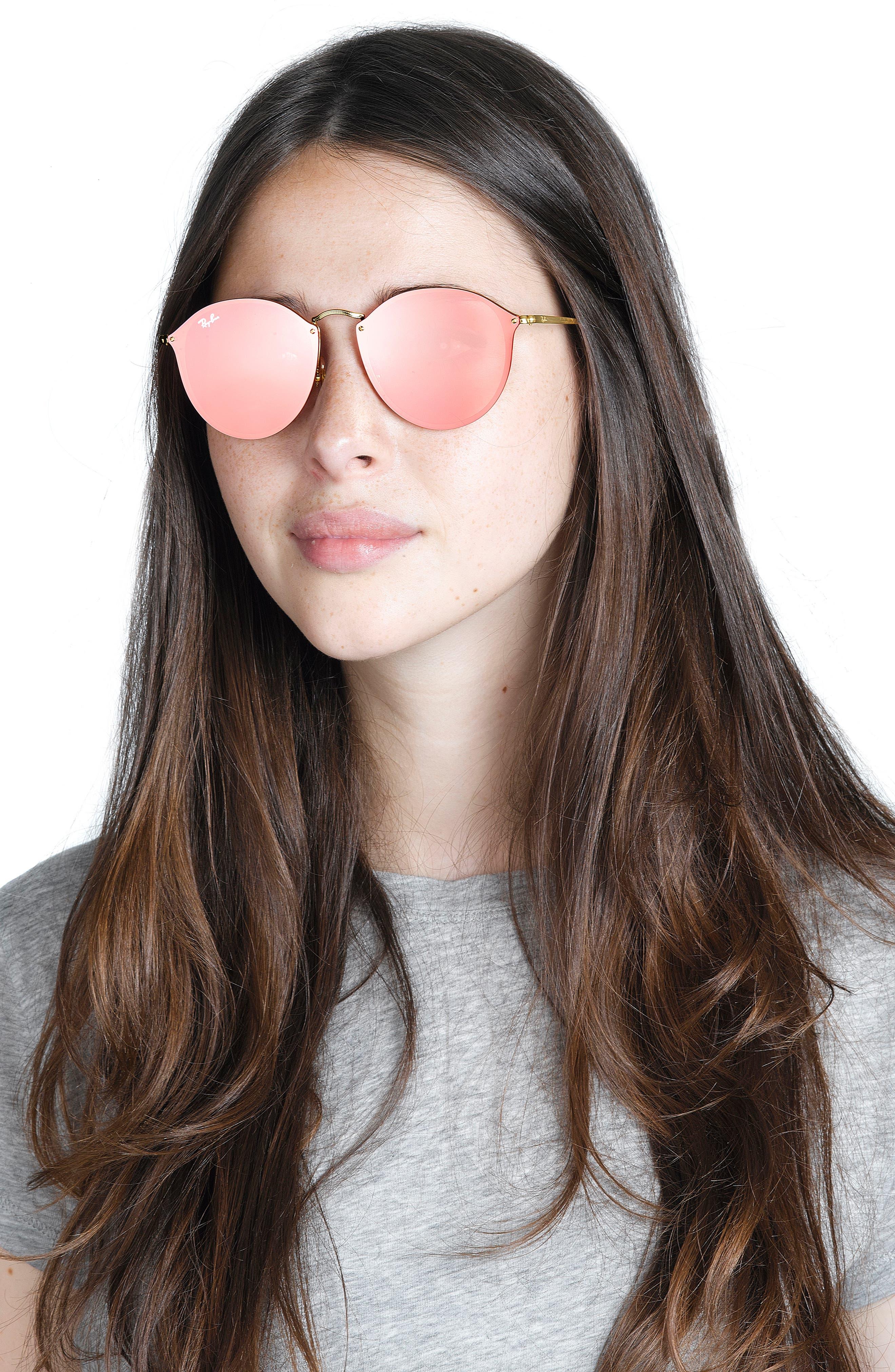 59mm Blaze Round Mirrored Sunglasses,                             Alternate thumbnail 12, color,