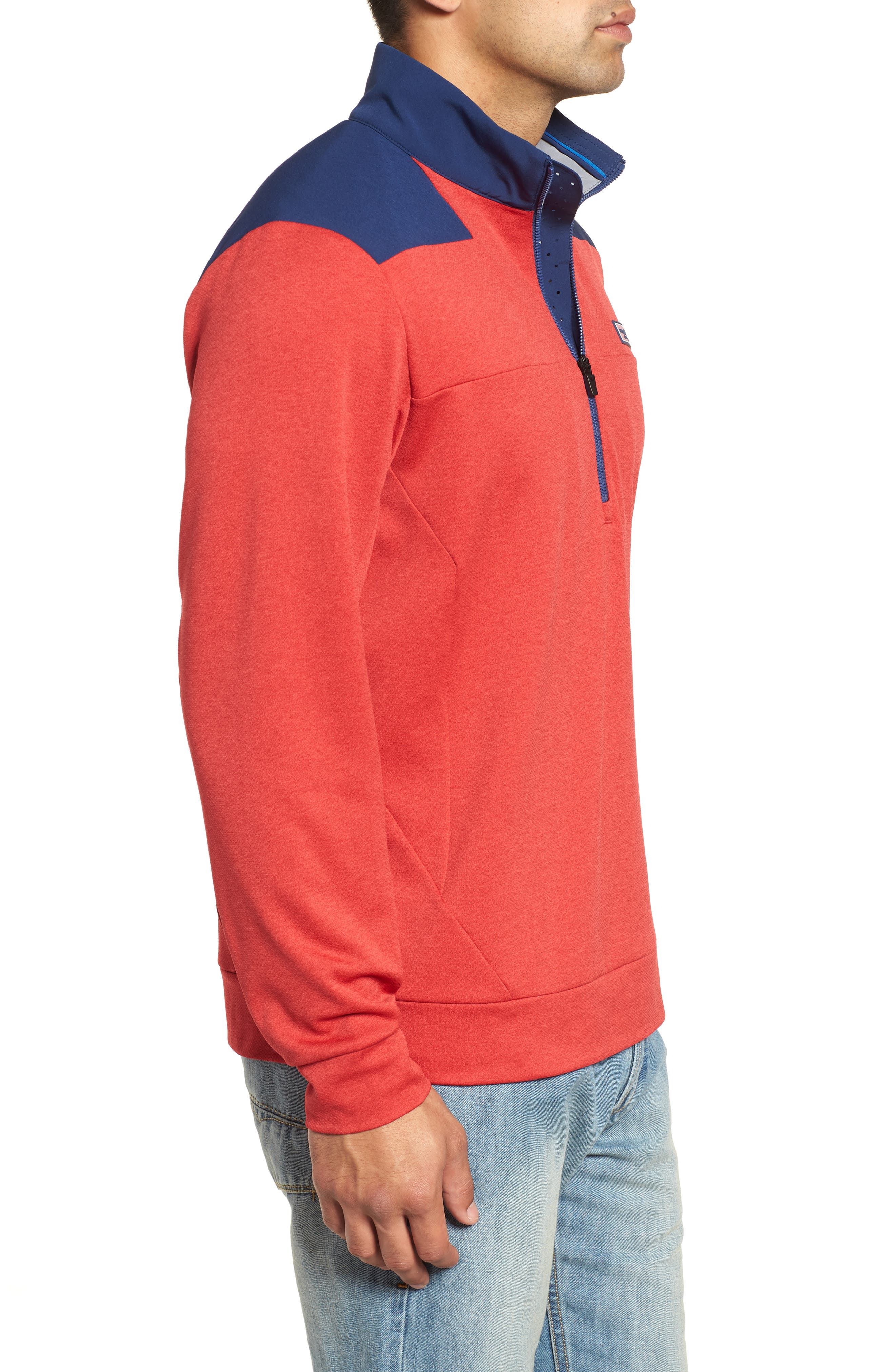 Performance Quarter Zip Pullover,                             Alternate thumbnail 8, color,