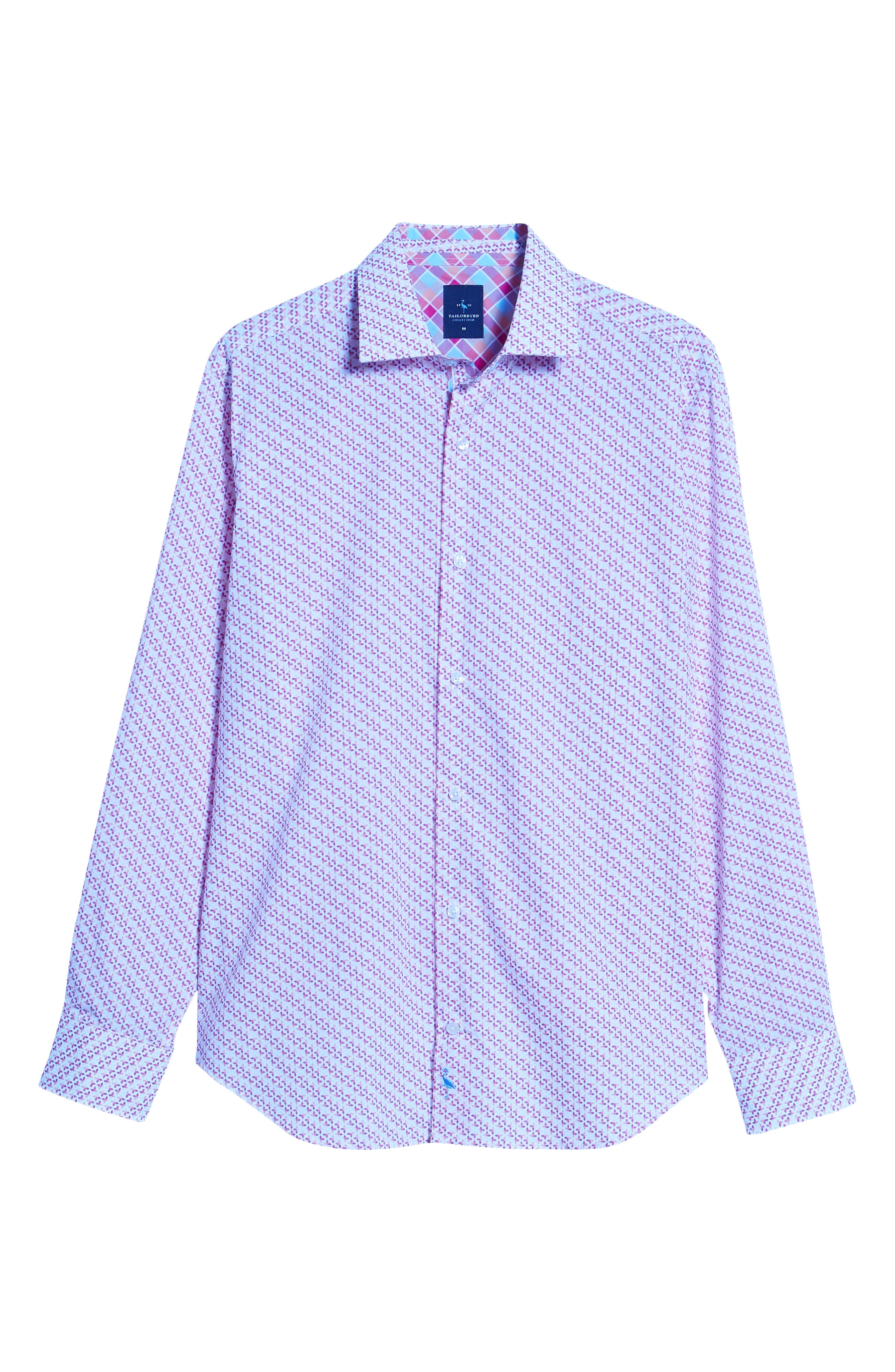 Ade Regular Fit Print Sport Shirt,                             Alternate thumbnail 6, color,