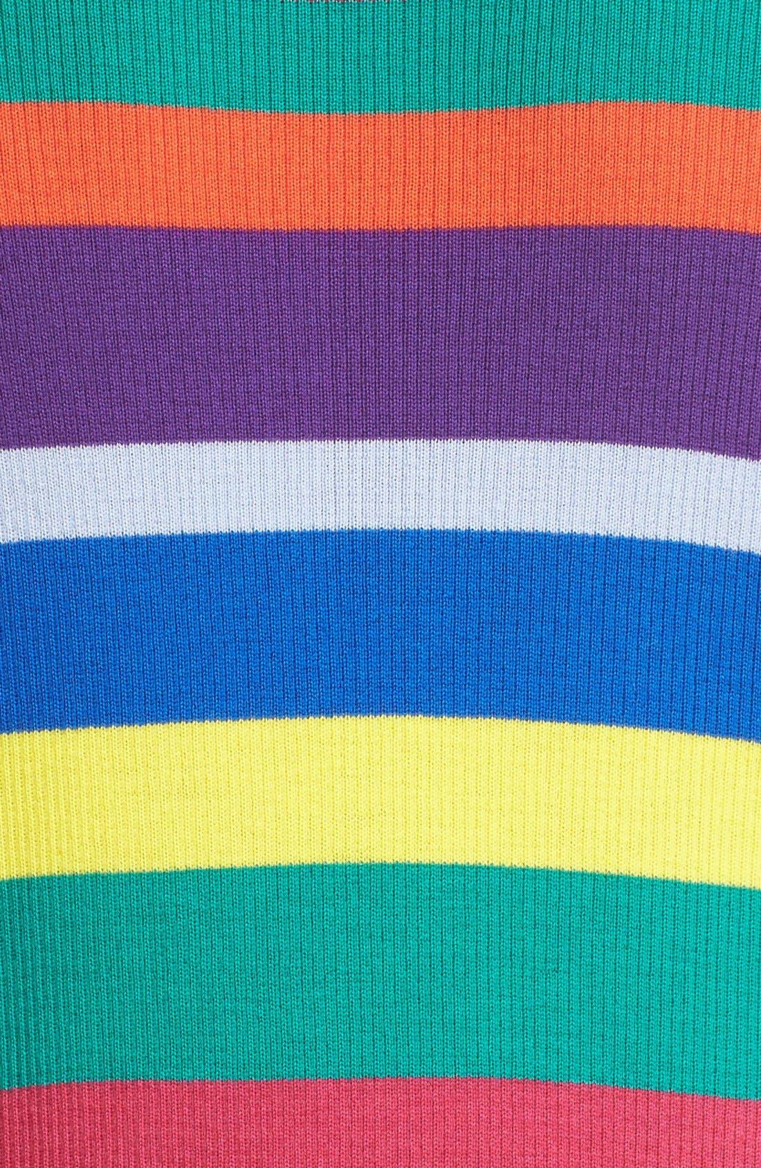 Stripe Merino Wool Turtleneck,                             Alternate thumbnail 4, color,                             960