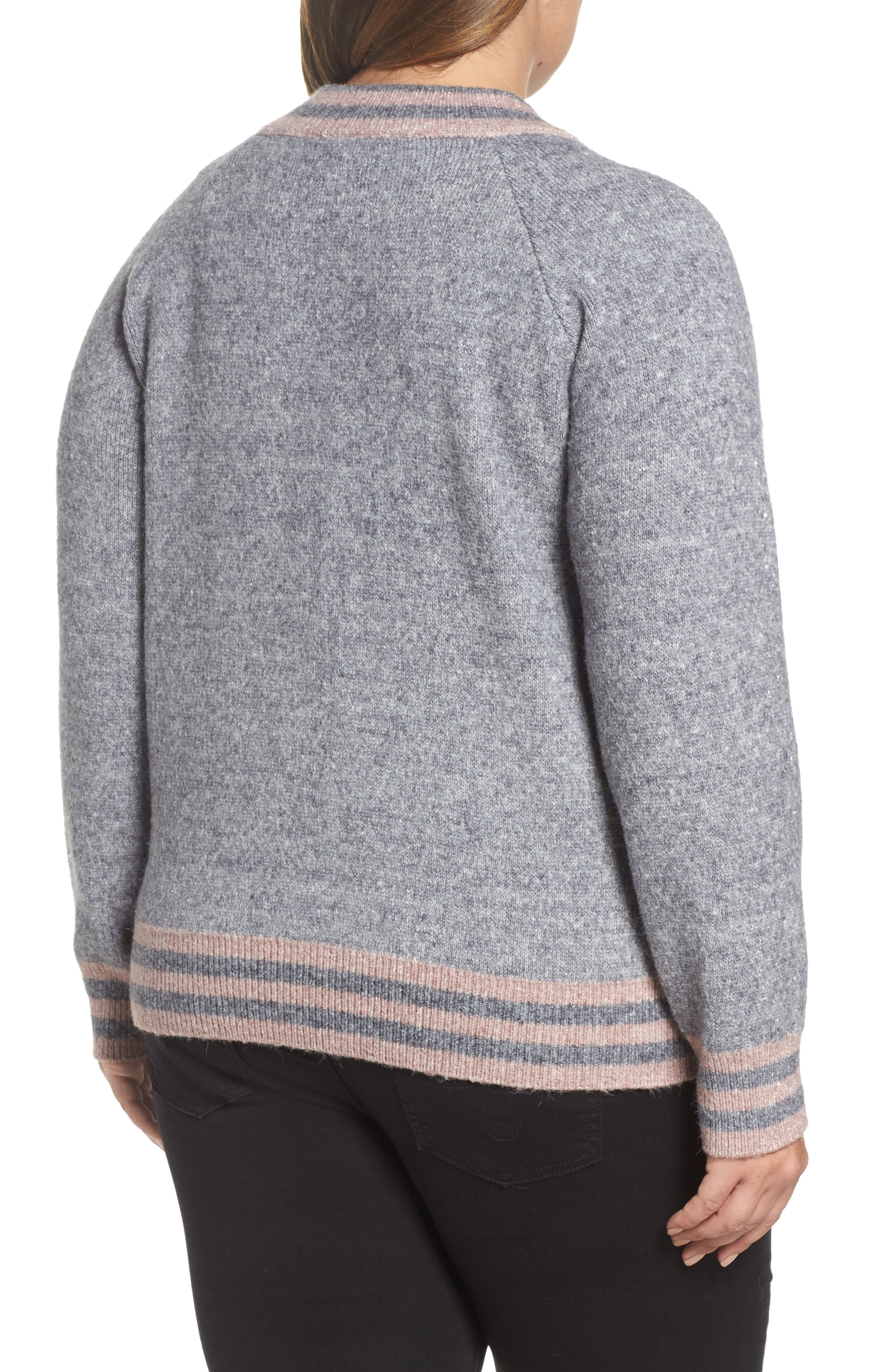 Zanja Embroidered Knit Bomber Jacket,                             Alternate thumbnail 2, color,                             034