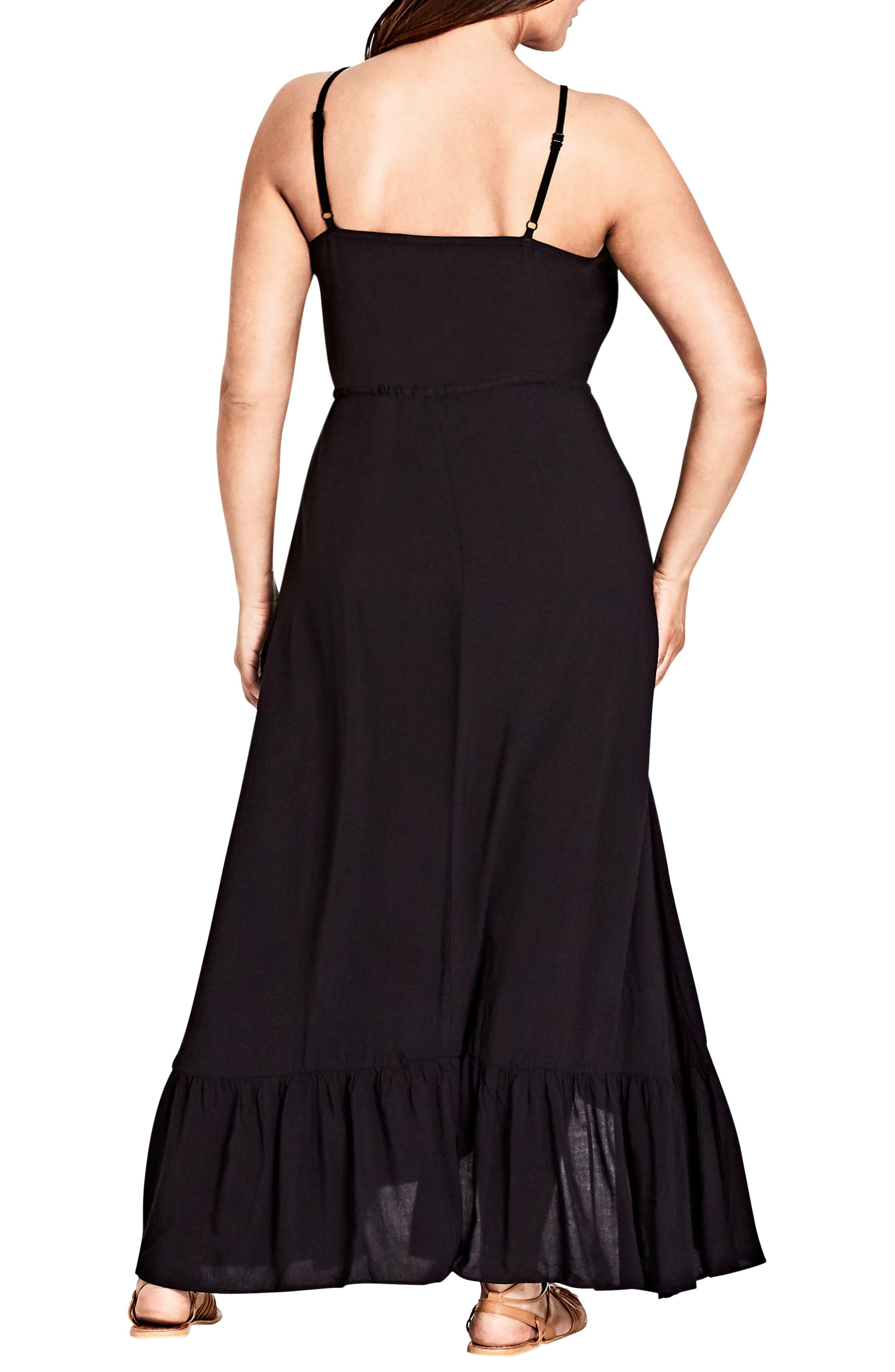 Aruba Maxi Dress,                             Alternate thumbnail 2, color,                             BLACK