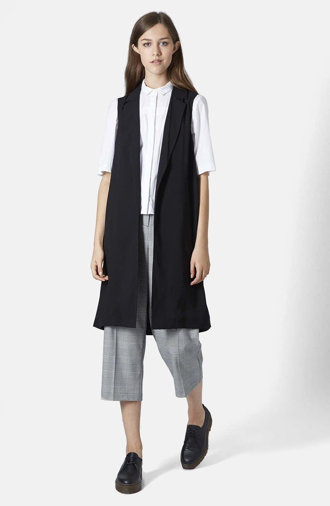 Sleeveless Side Split Coat,                             Main thumbnail 1, color,                             001
