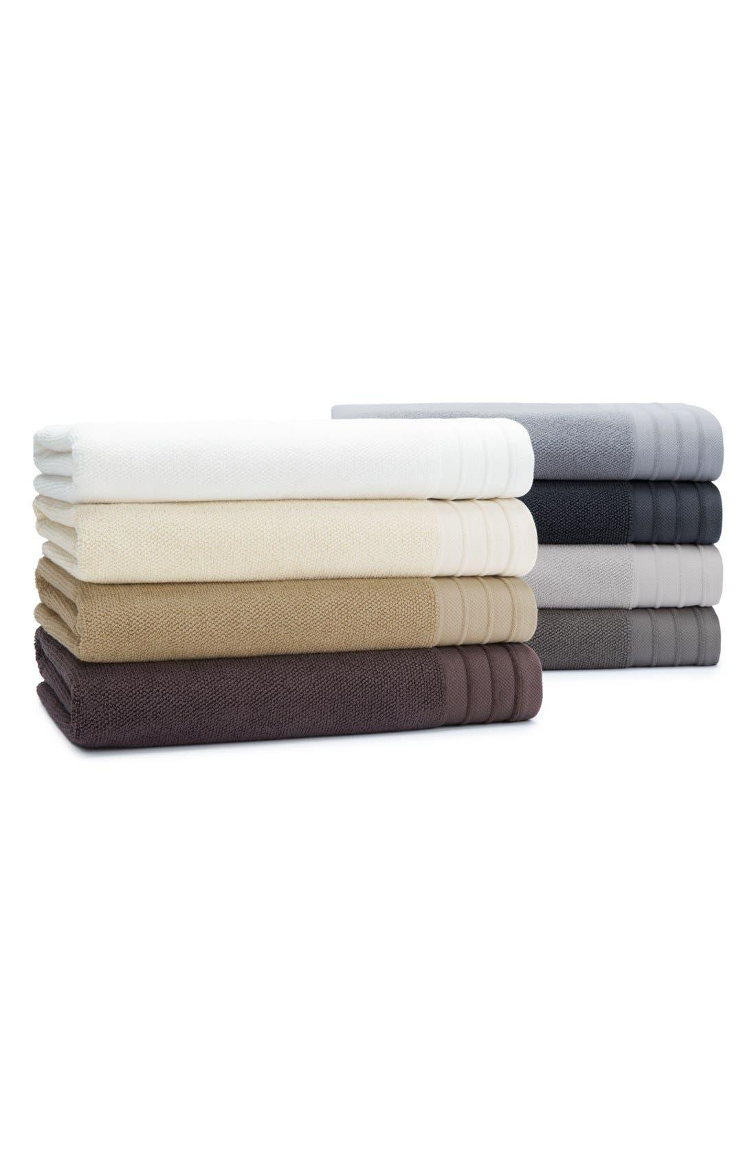 Classic Luxe Hand Towel,                             Alternate thumbnail 4, color,                             GRANITE