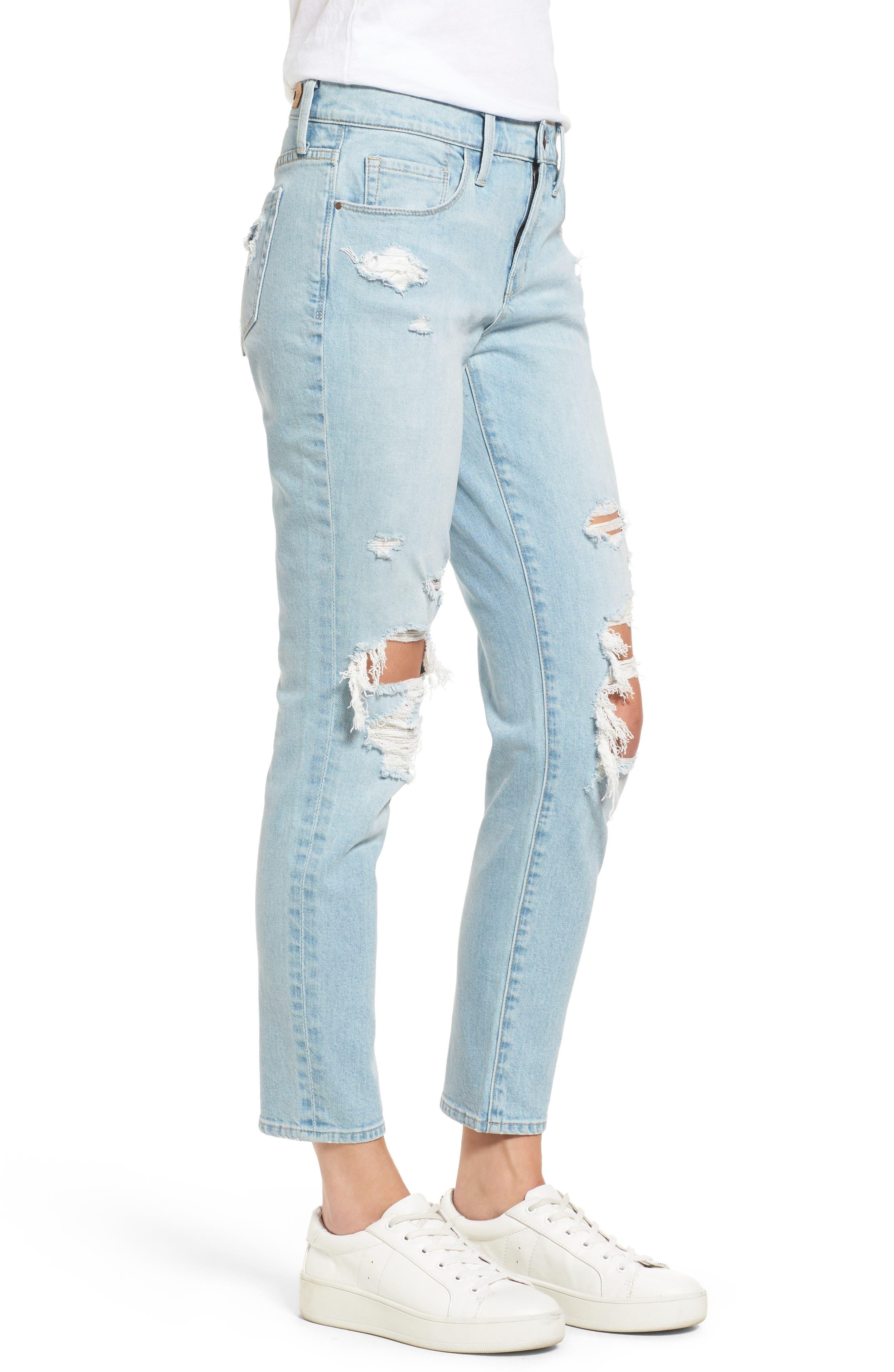 TREASURE & BOND,                             Skinny Boyfriend Jeans,                             Alternate thumbnail 3, color,                             400