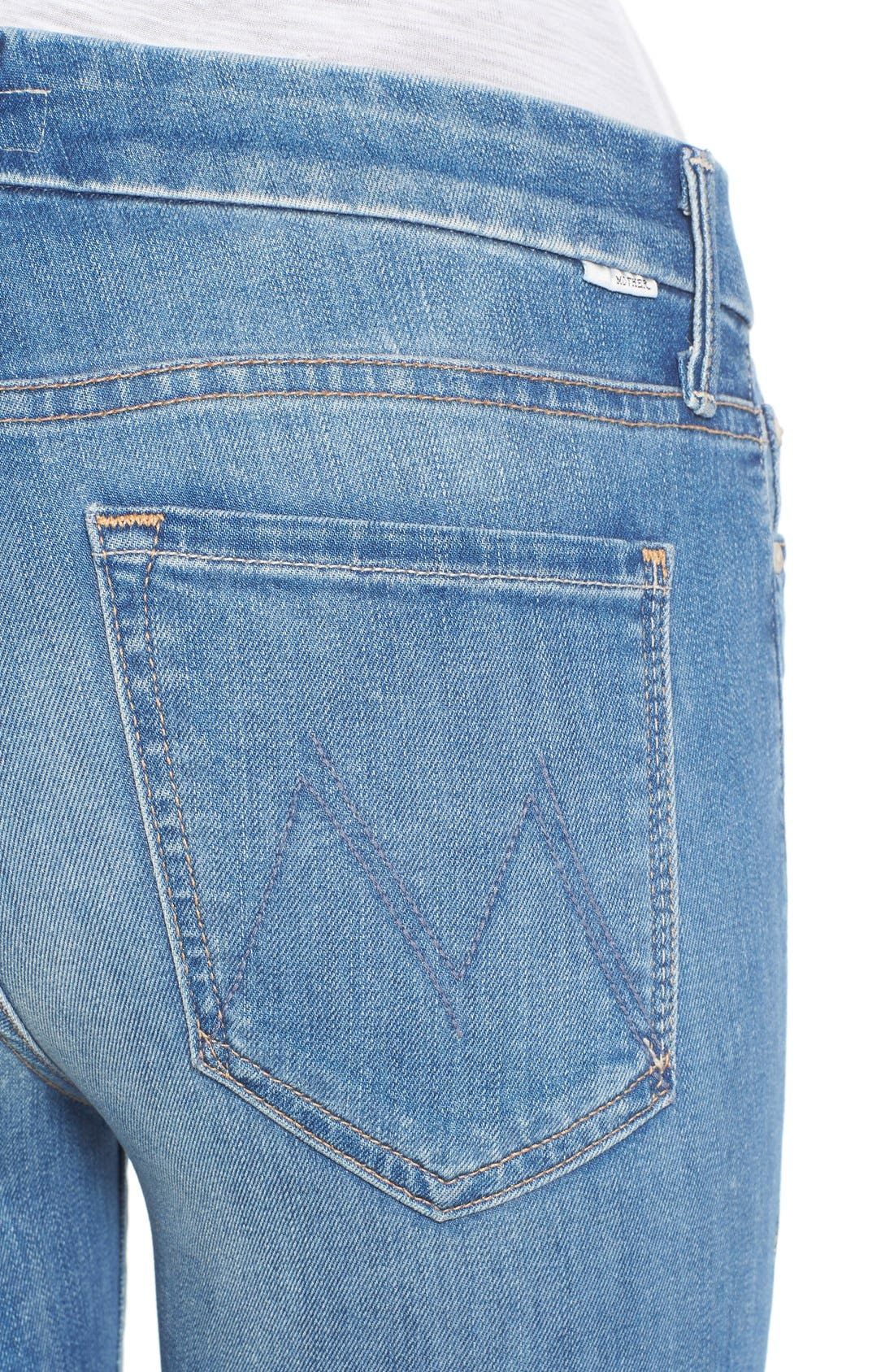 'The Looker' Fray Ankle Jeans,                             Alternate thumbnail 4, color,                             420