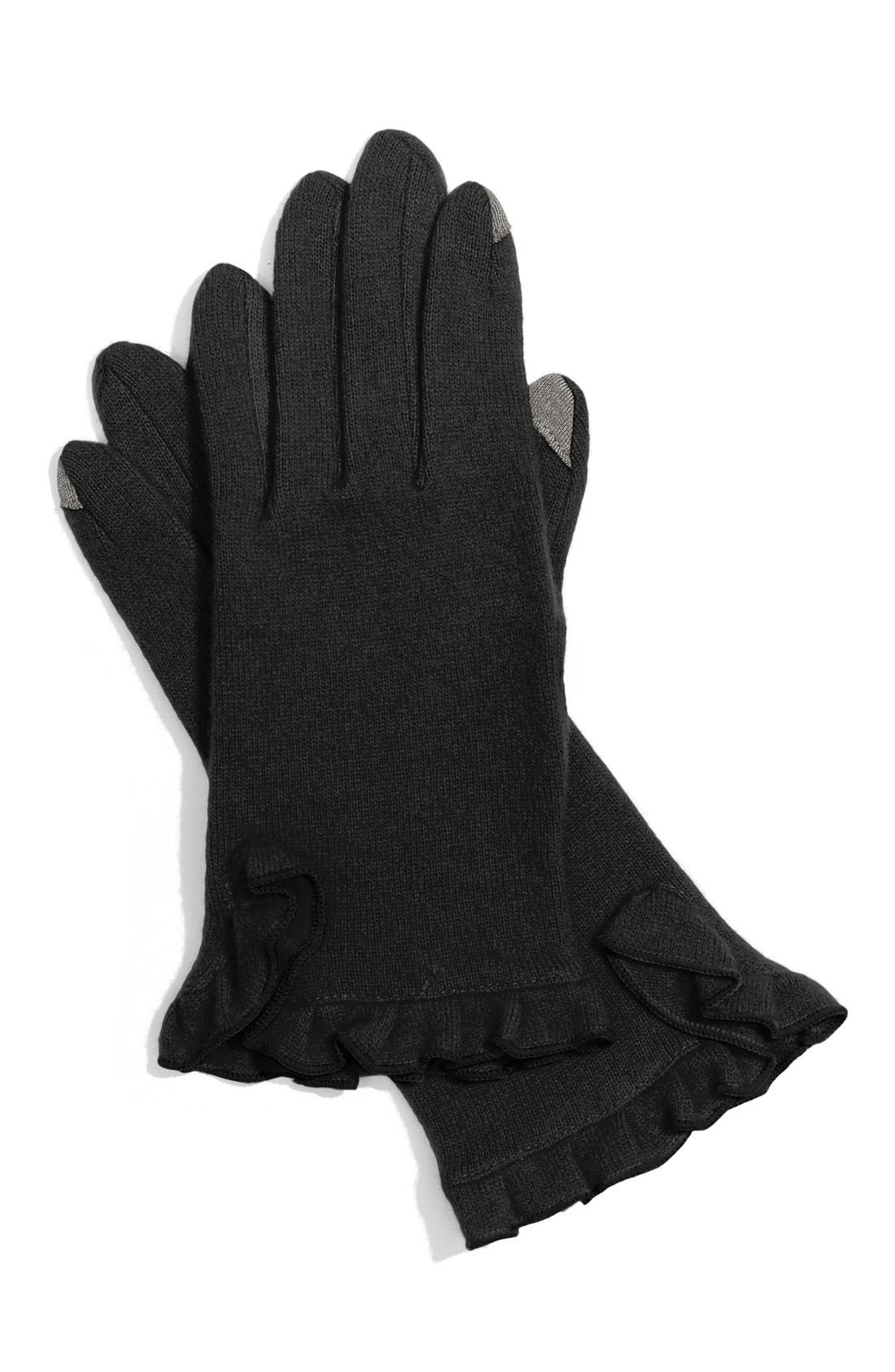 ECHO,                             'Touch' Tech Gloves,                             Main thumbnail 1, color,                             001