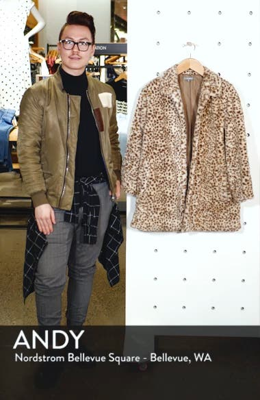 Faux Leopard Fur Coat, sales video thumbnail