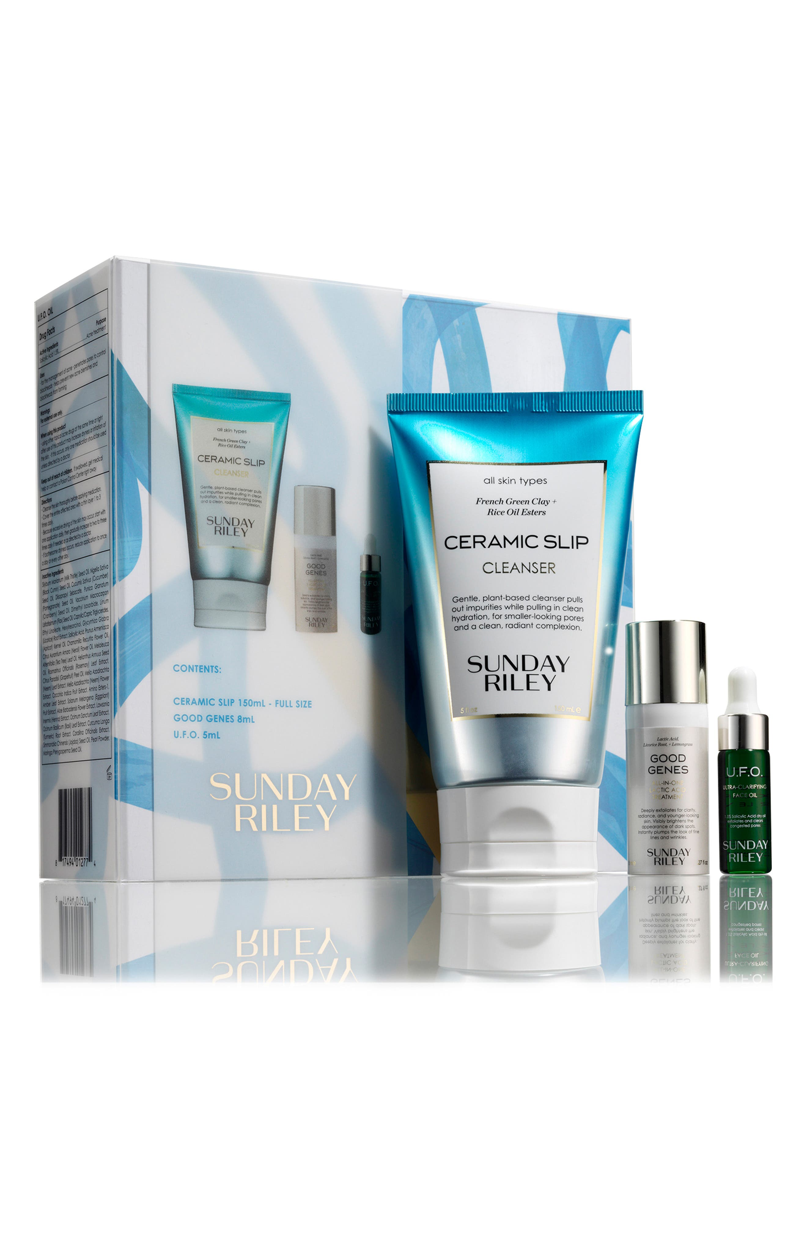 SUNDAY RILEY SPACE.NK.apothecary Sunday Riley Cleanse + Detox Kit, Main, color, NO COLOR