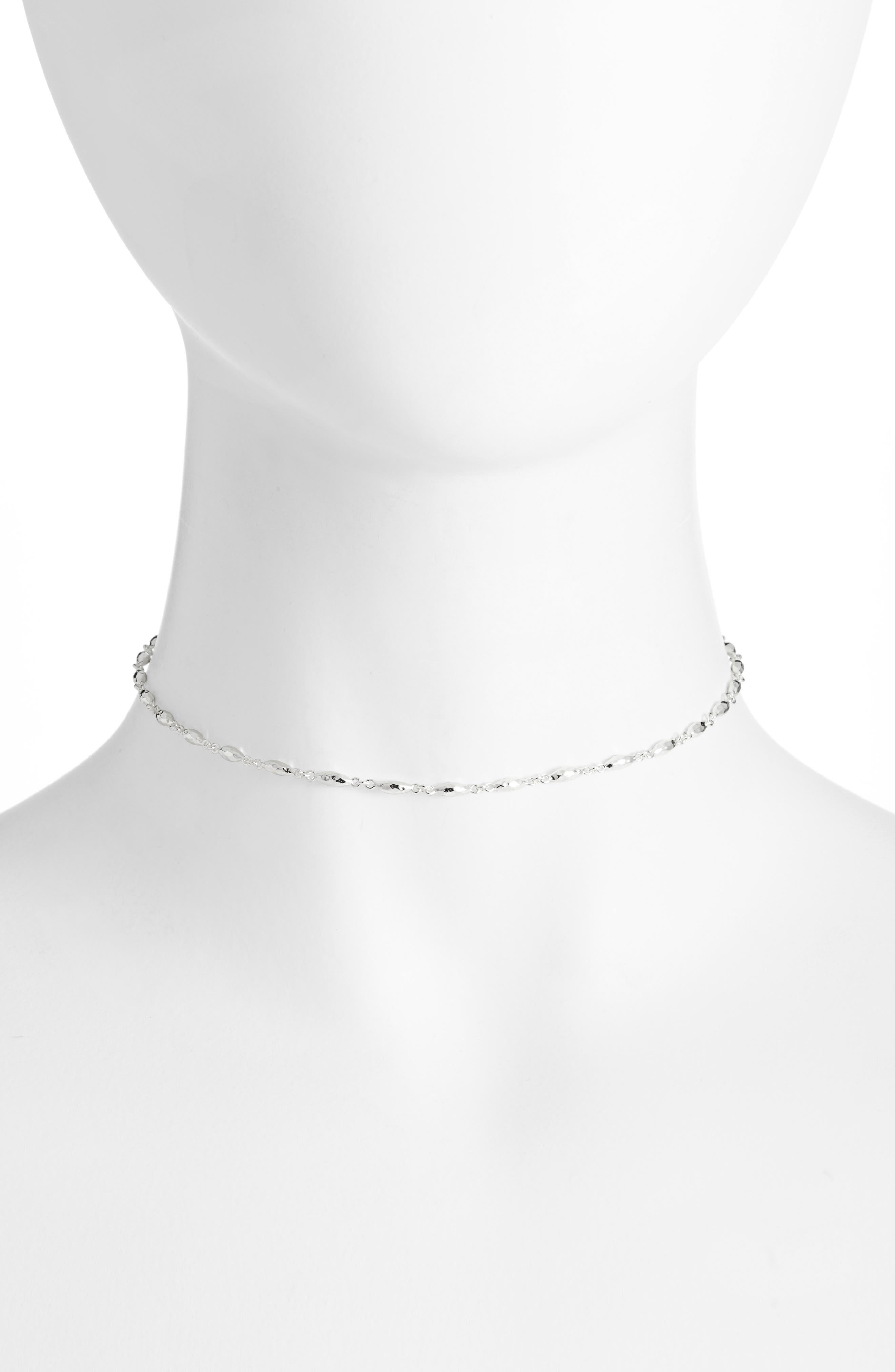 Nora Choker Necklace, 12 in Silver