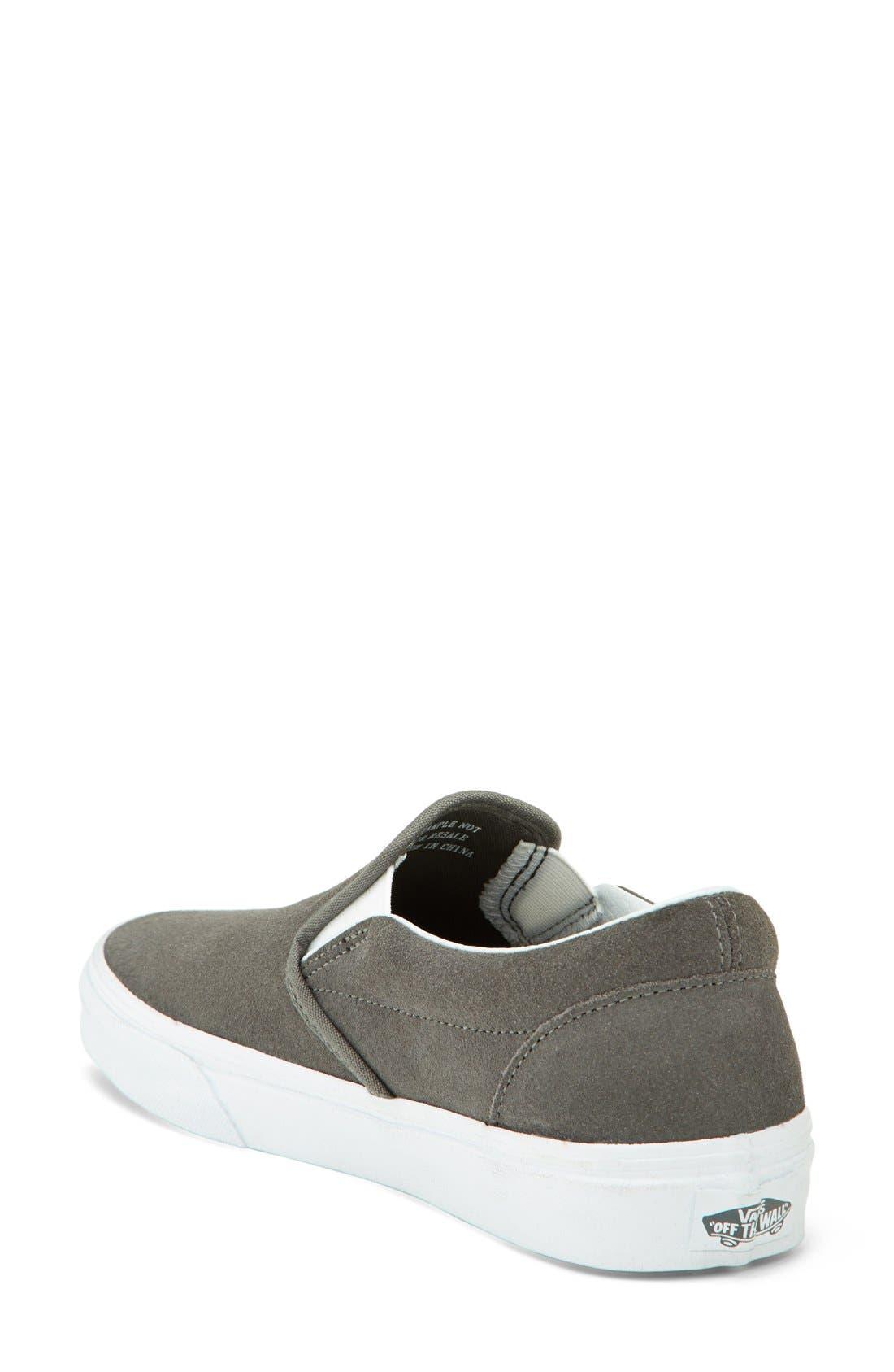 VANS,                             Suede Slip-On Sneaker,                             Alternate thumbnail 3, color,                             020