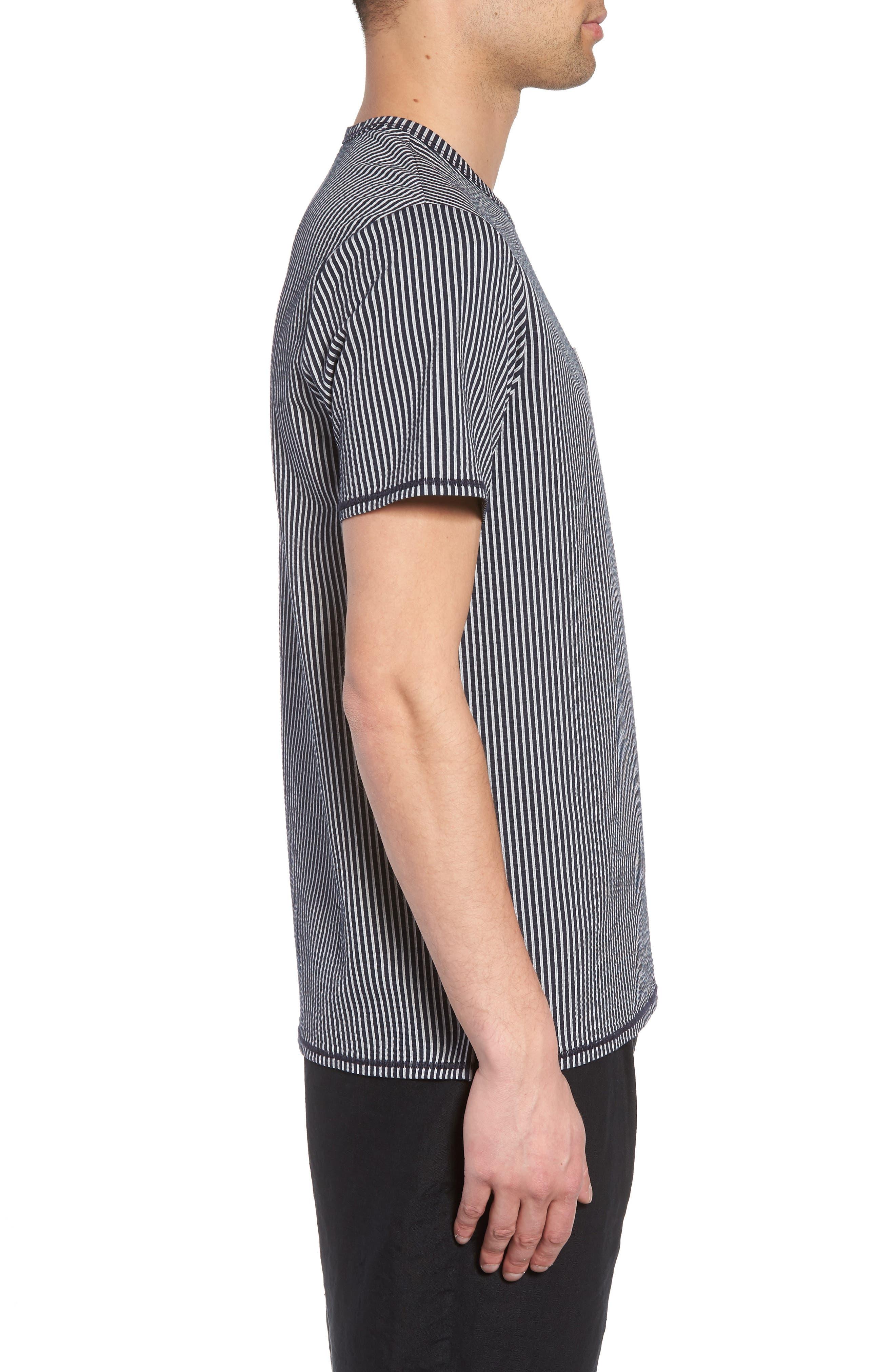 Japanese Seersucker T-Shirt,                             Alternate thumbnail 6, color,