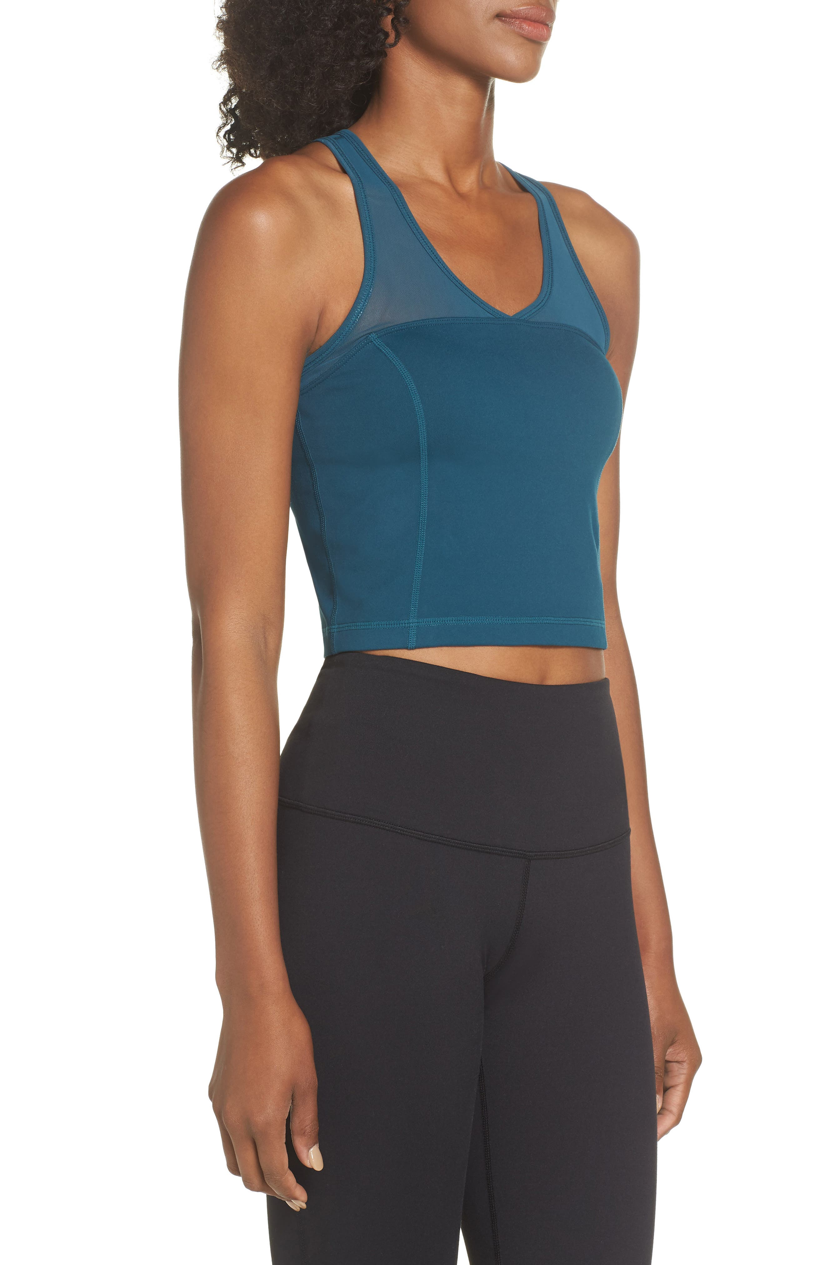 Vivian Crop Tank,                             Alternate thumbnail 3, color,                             TEAL ABYSS