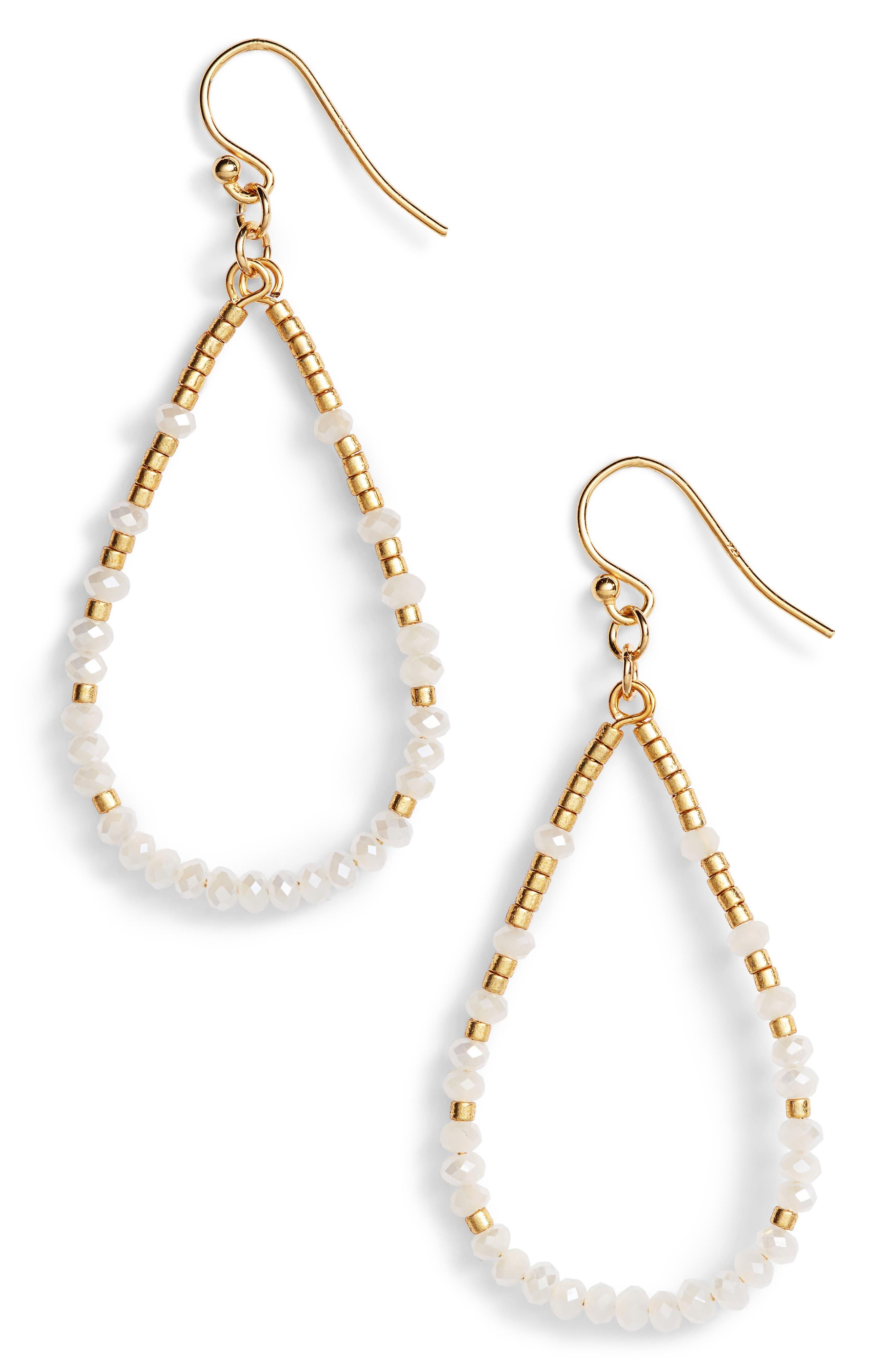 Crystal Hoop Earrings,                             Main thumbnail 1, color,                             100
