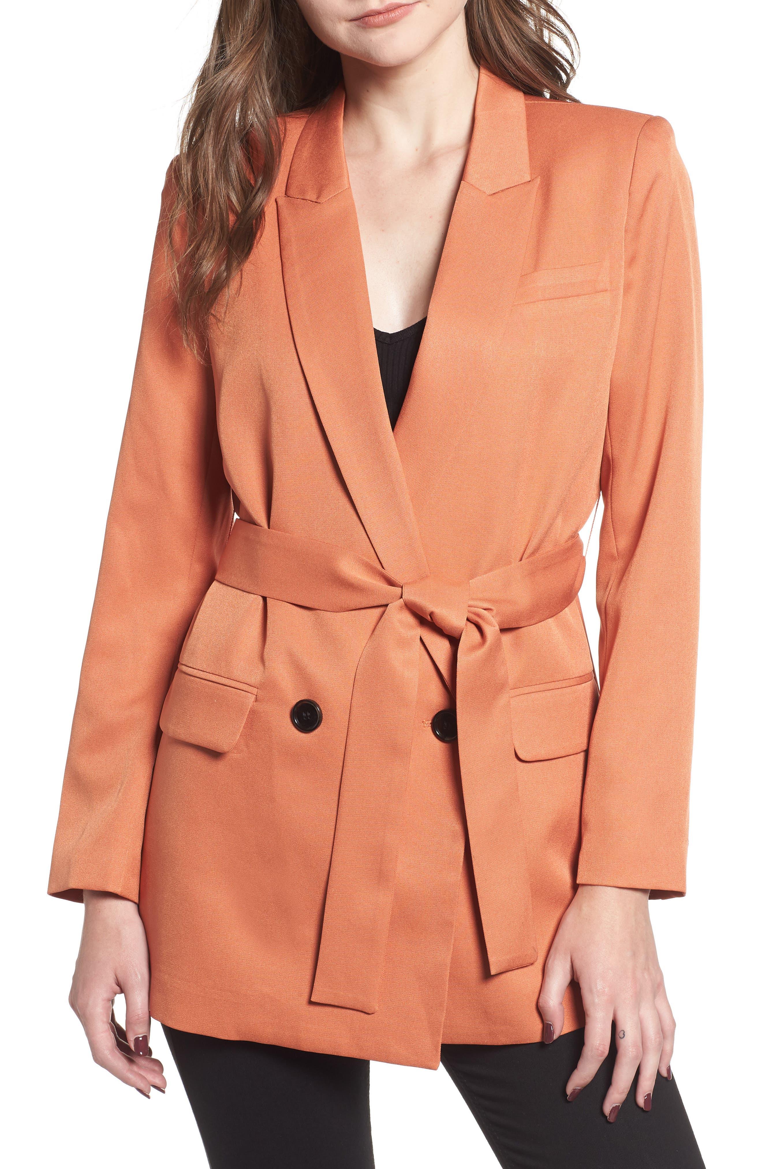 MURAL Belted Blazer, Main, color, 200