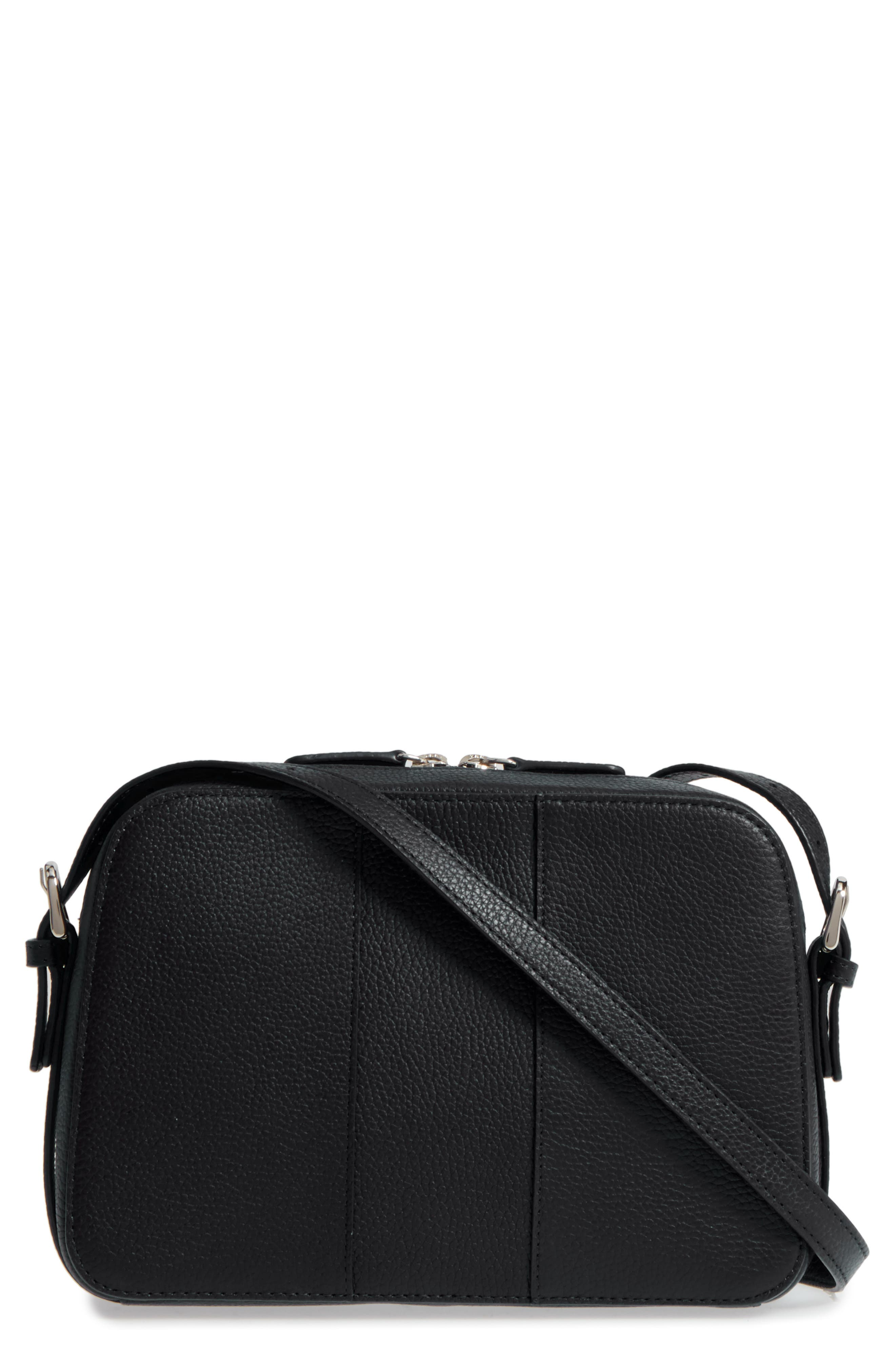 Brayden Leather Crossbody Camera Bag,                         Main,                         color, 001