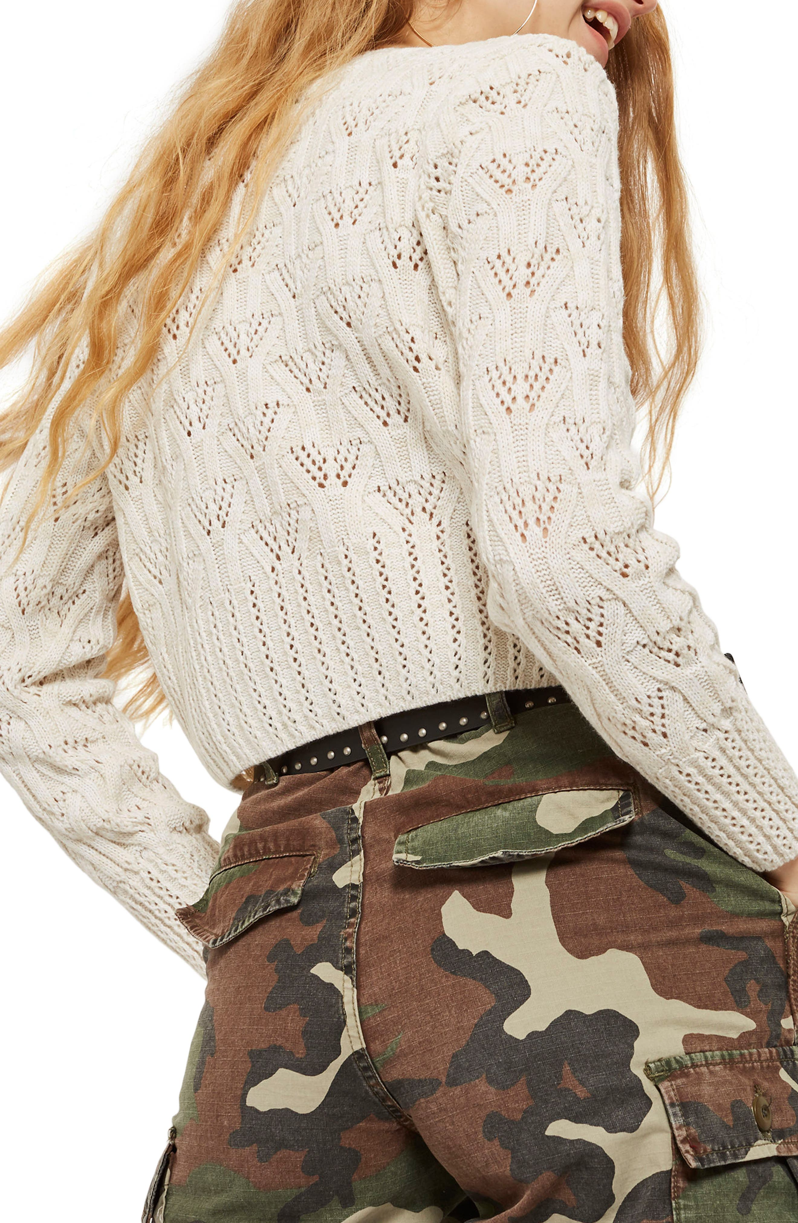 Geo Stitch Sweater,                             Alternate thumbnail 2, color,                             900