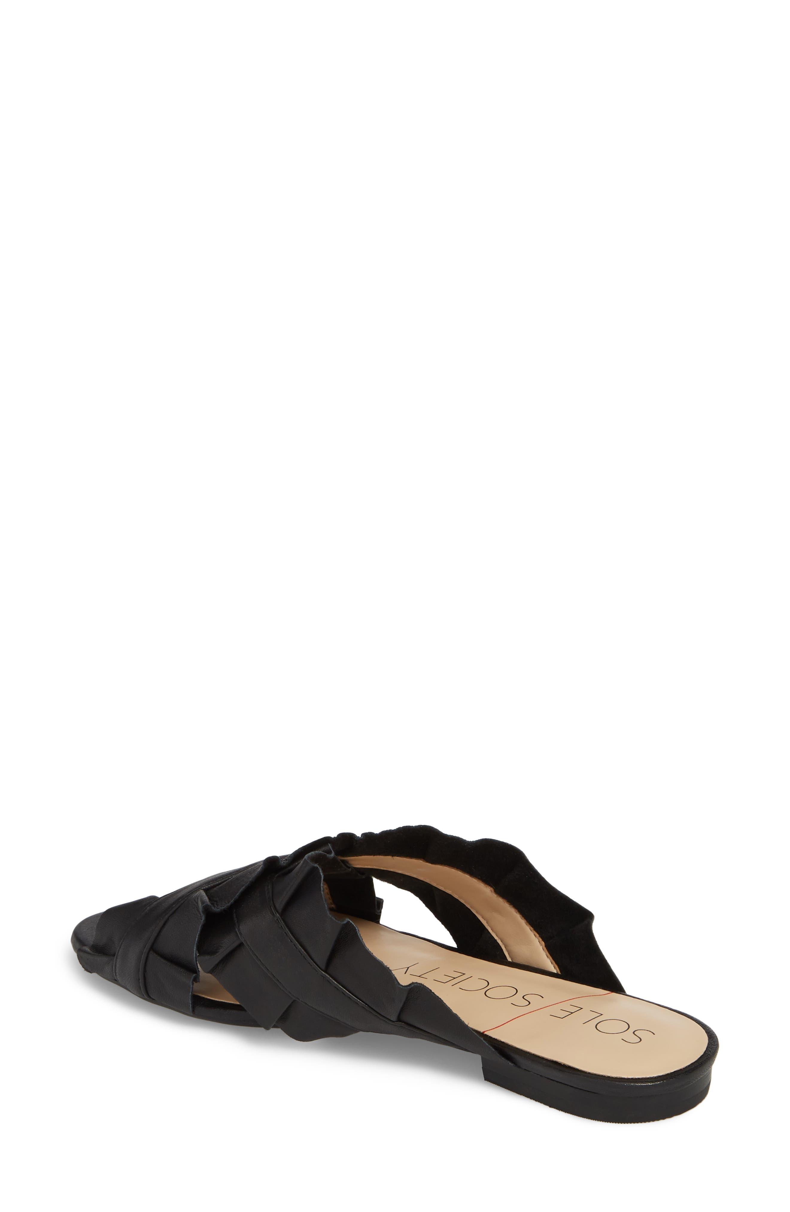 SOLE SOCIETY,                             Mandi Slide Sandal,                             Alternate thumbnail 2, color,                             BLACK