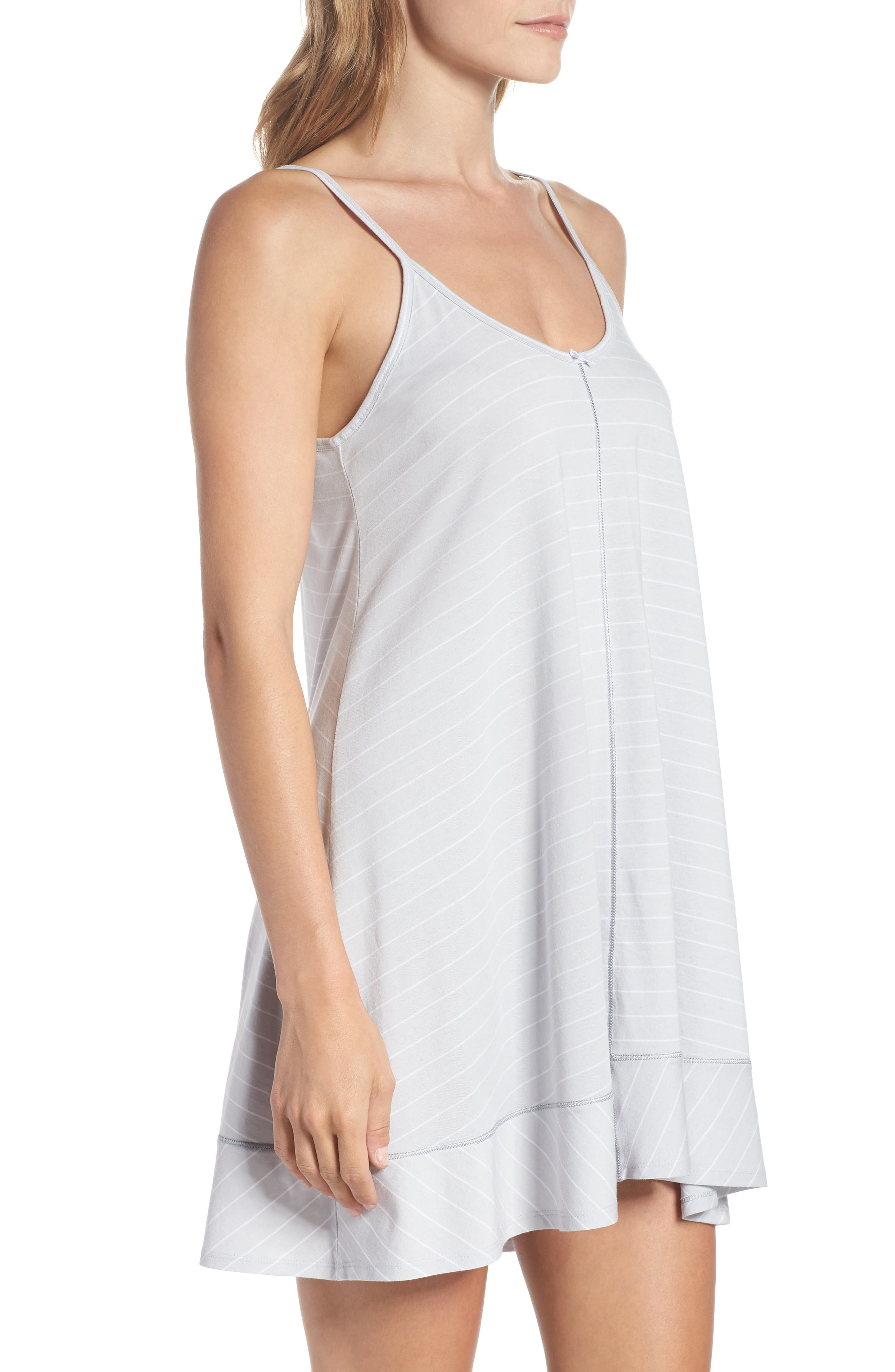Swing Chemise,                             Alternate thumbnail 3, color,                             MICROCHIP GRAY STRIPE