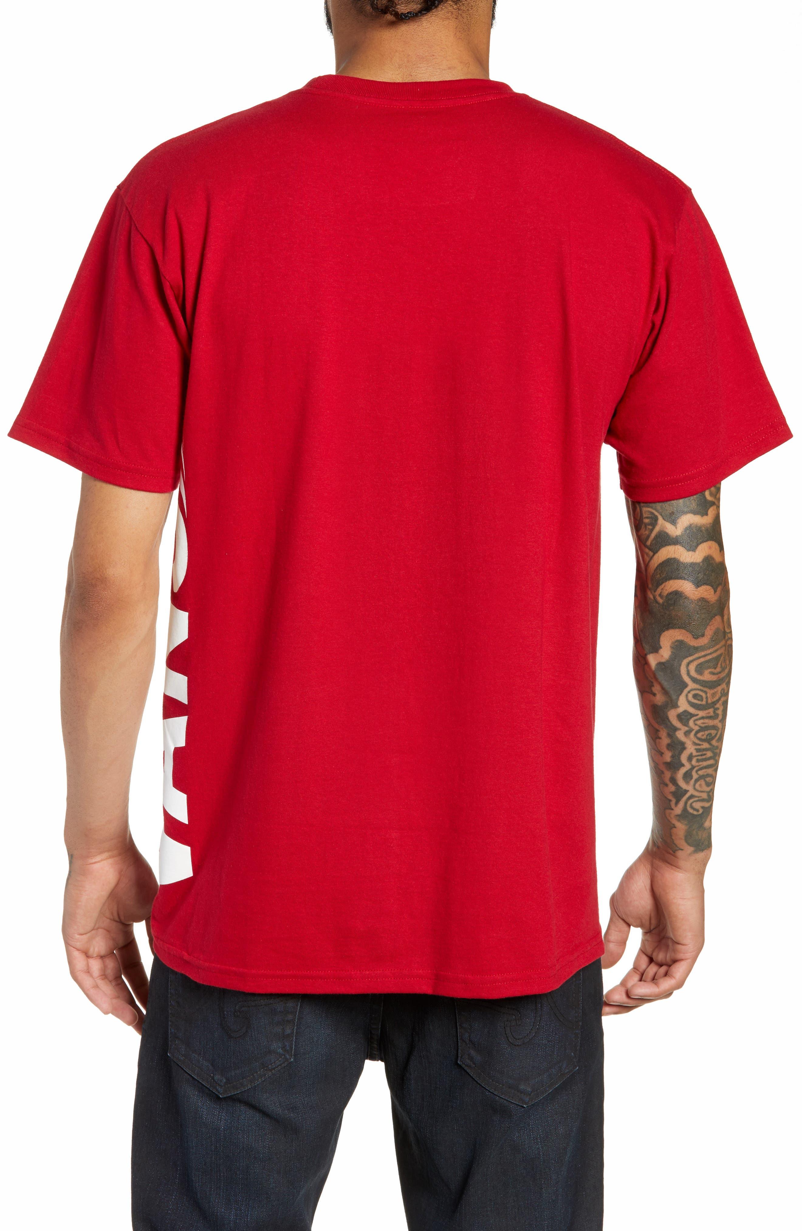 Distorted Short Sleeve T-Shirt,                             Alternate thumbnail 2, color,                             CARDINAL